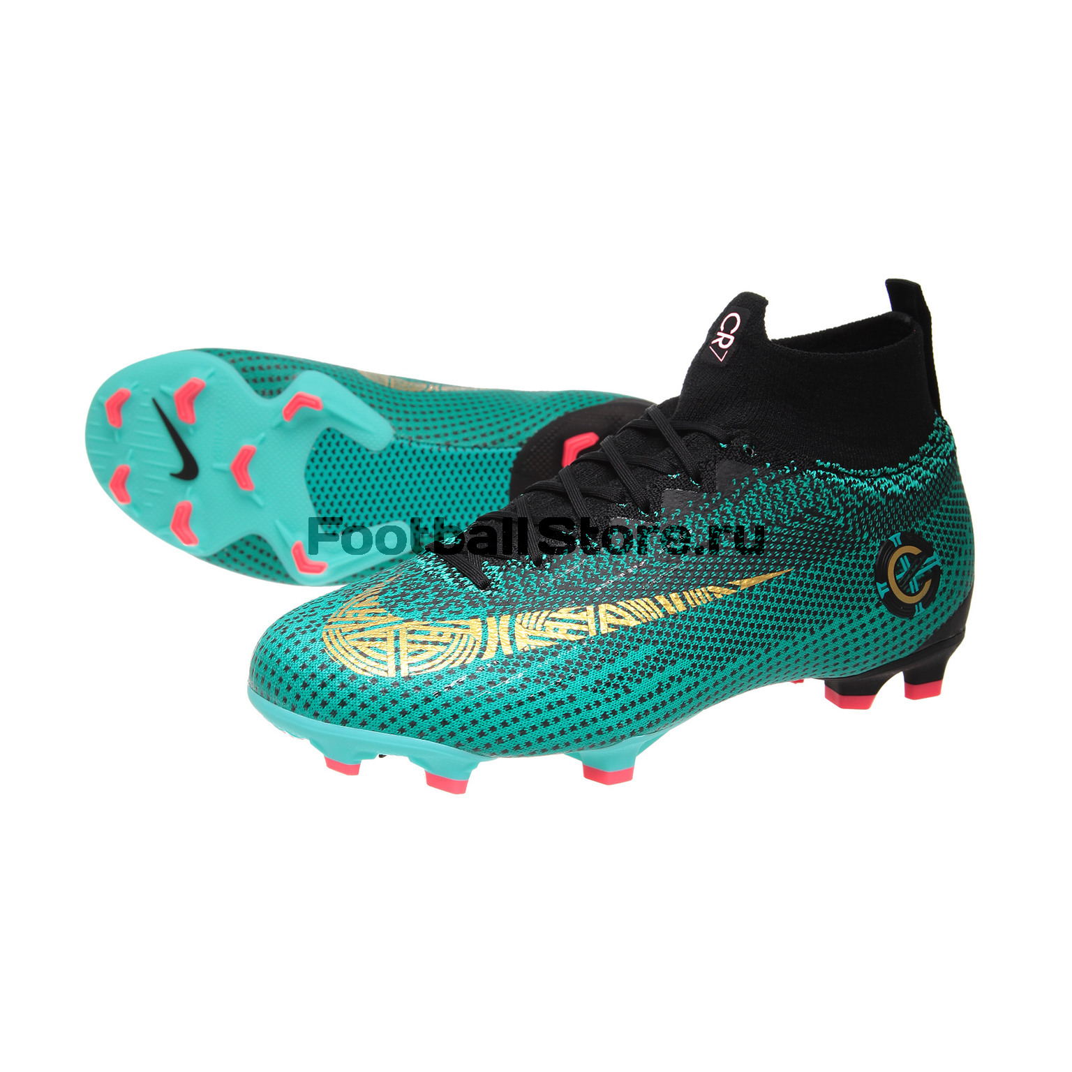 Бутсы Nike Superfly 6 Elite CR7 JR FG AJ3086-390 чулок д щитков nike guard lock elite sleeve su12 se0173 011 m чёрный