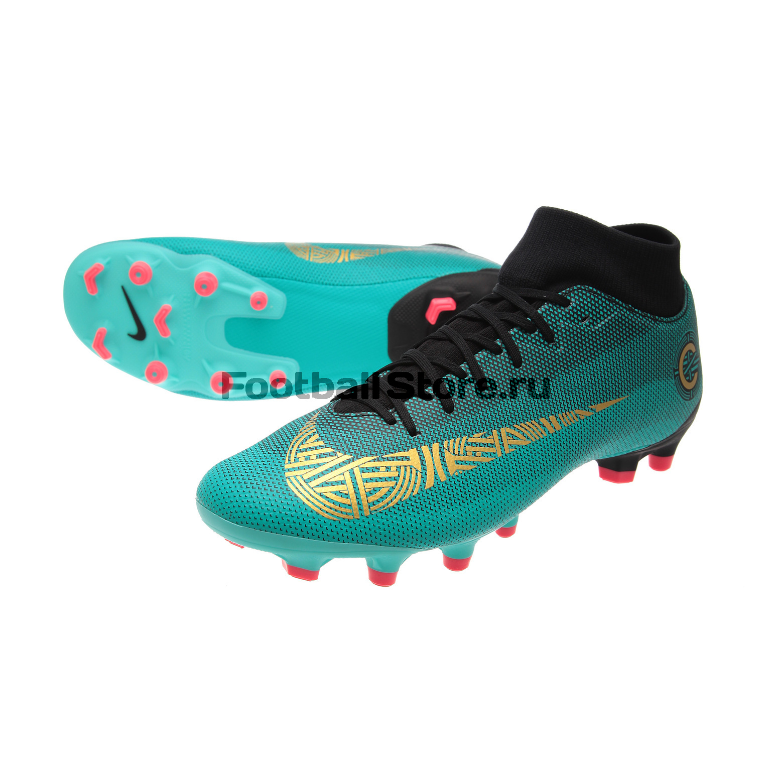 Бутсы Nike Superfly 6 Academy CR7 FG/MG AJ3541-390 бутсы nike superfly academy gs cr7 jr fg mg aj3111 390
