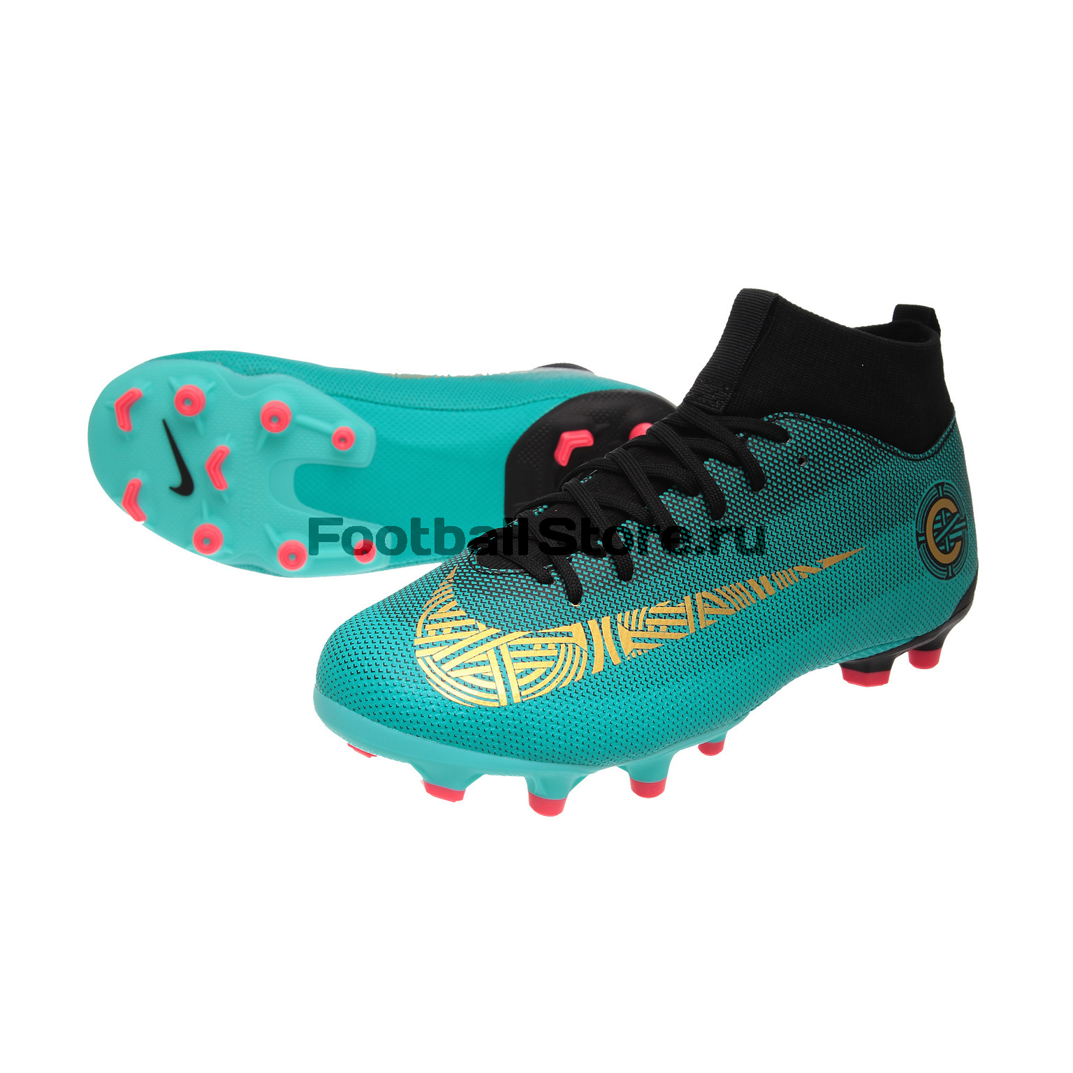 Бутсы Nike Superfly Academy GS CR7 JR FG/MG AJ3111-390 детские бутсы nike бутсы nike jr phantom 3 elite df fg ah7292 081