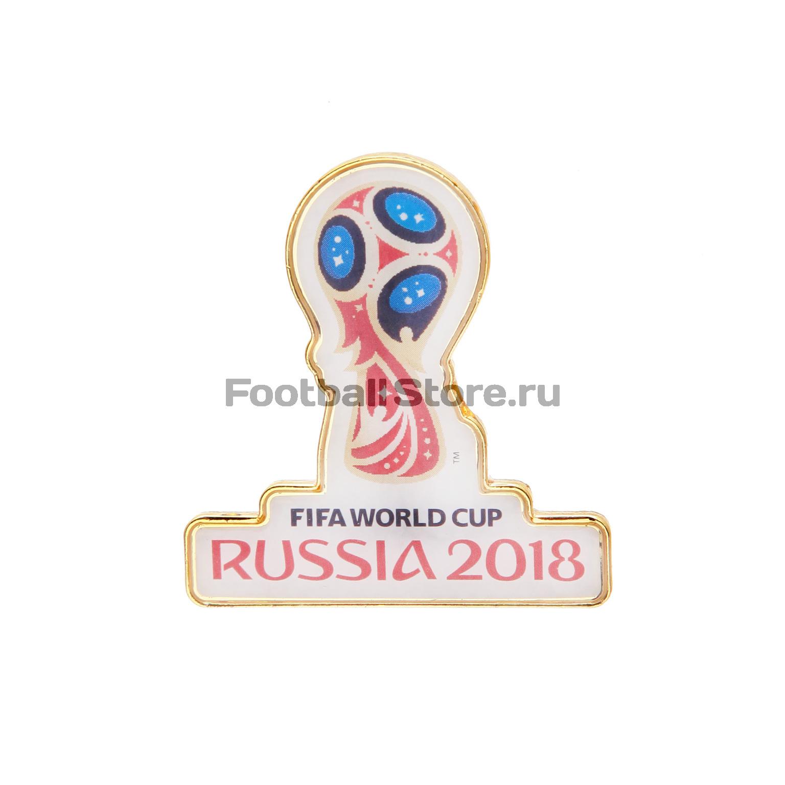 Значок «Эмблема ЧМ-2018» FIFA смола/4см цена