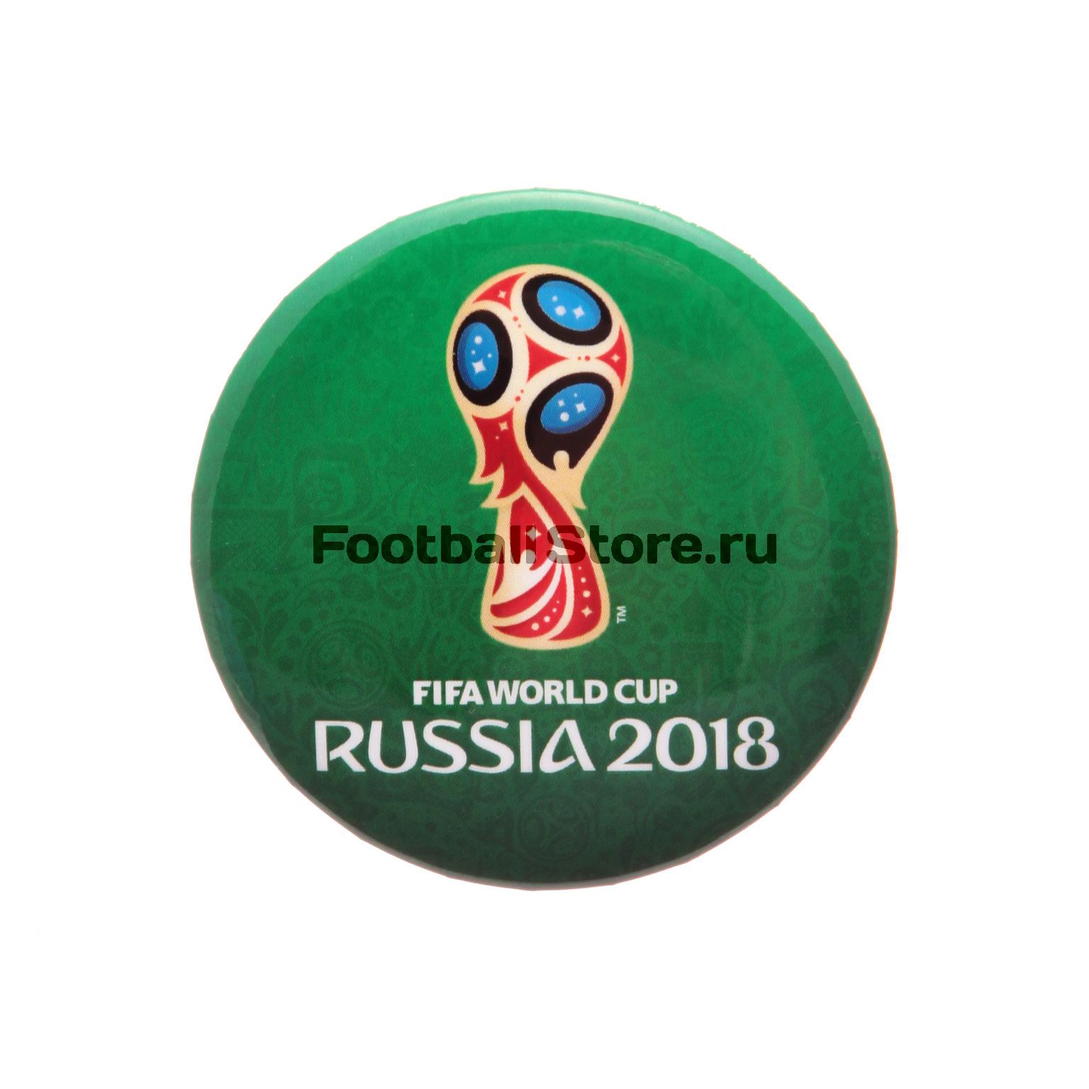 Значок круглый «Эмблема-2» FIFA-2018 УТ-0071 футболка белая catimini ут 00011611