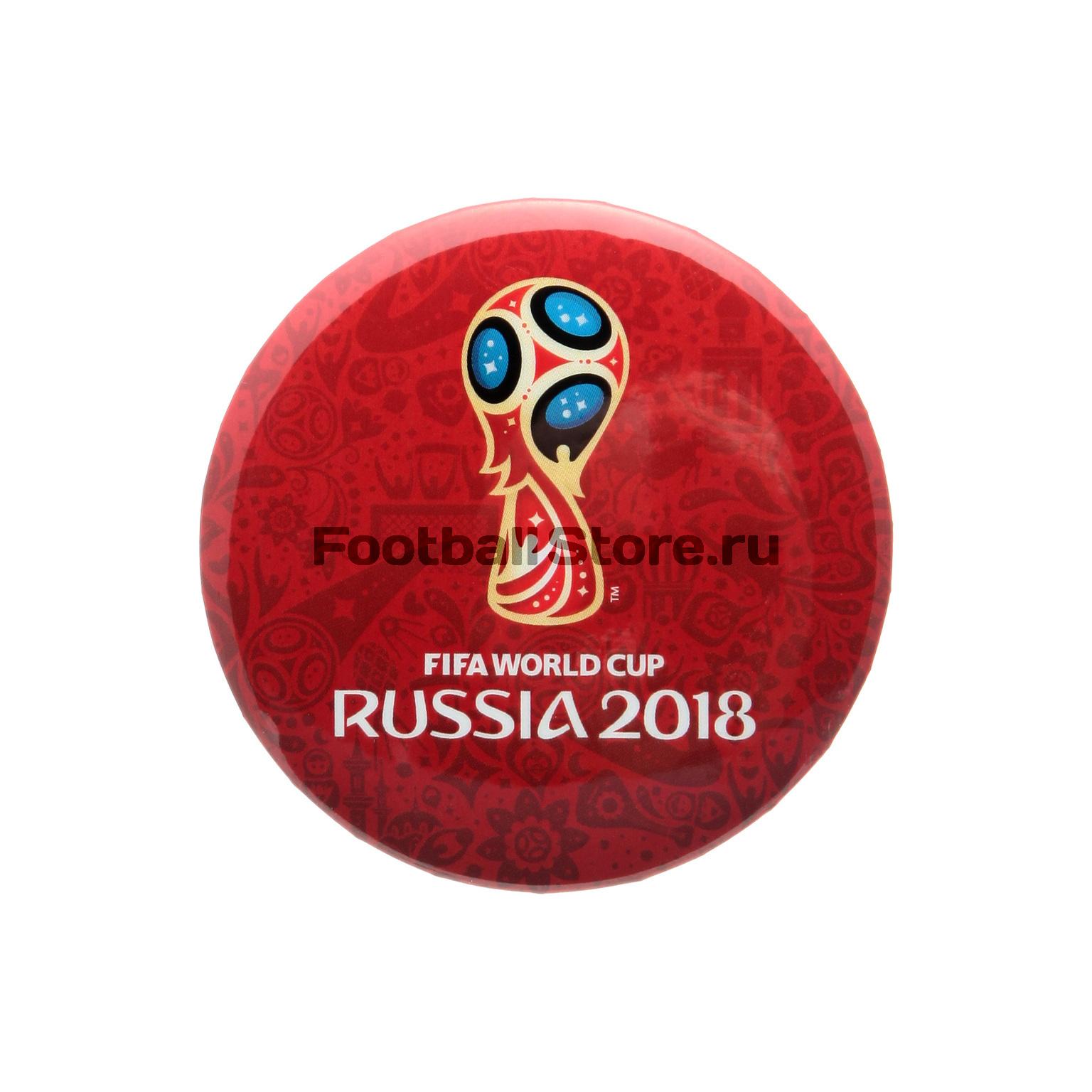Значок круглый «Эмблема-2» FIFA-2018 УТ-0091 футболка белая catimini ут 00011611