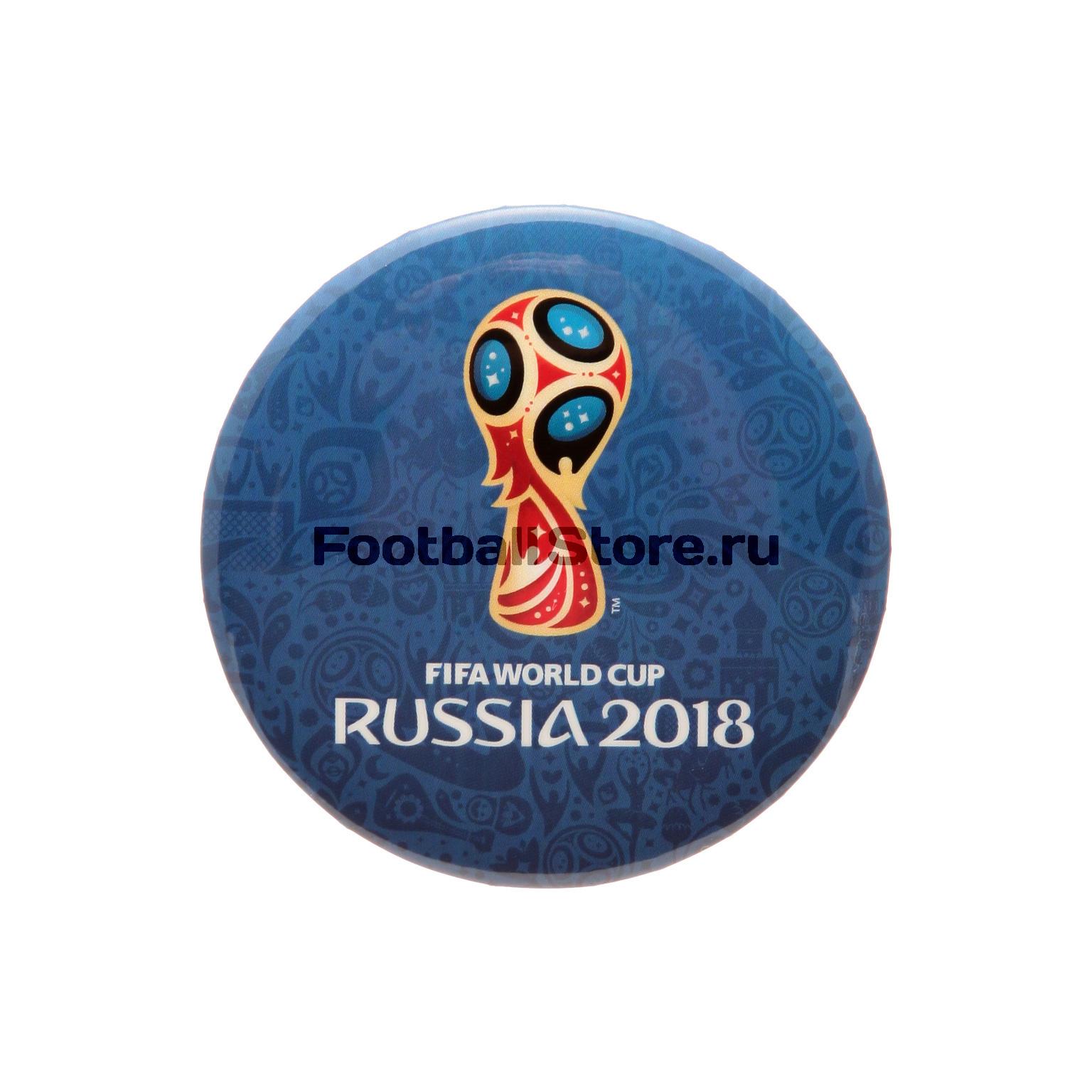 Значок круглый «Эмблема-2» FIFA-2018 УТ-0090 футболка белая catimini ут 00011611