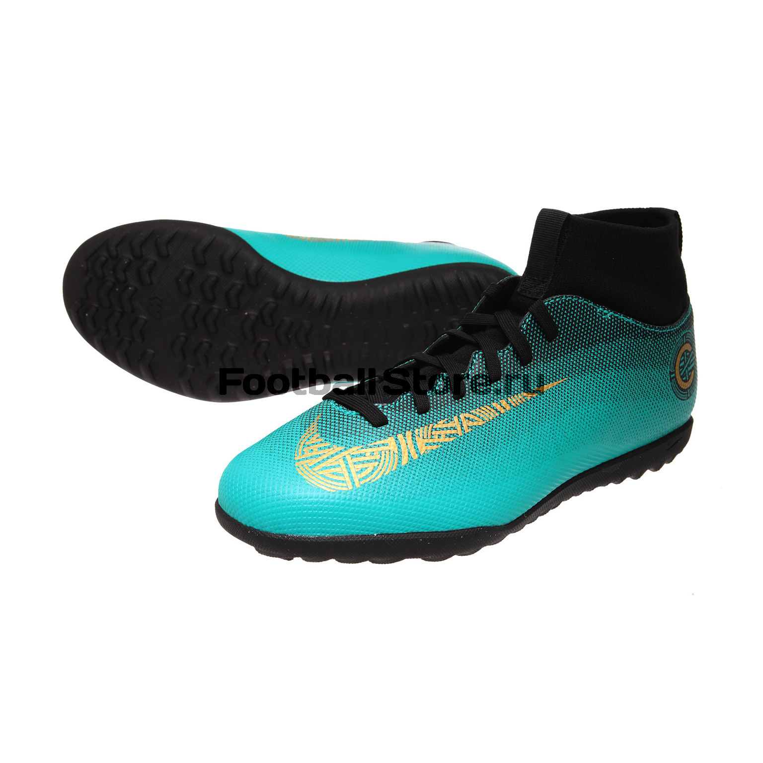 Шиповки Nike Superfly 6 Club CR7 JR TF AJ3088-390 шиповки nike шиповки nike hypervenomx proximo ii df tf 852576 801