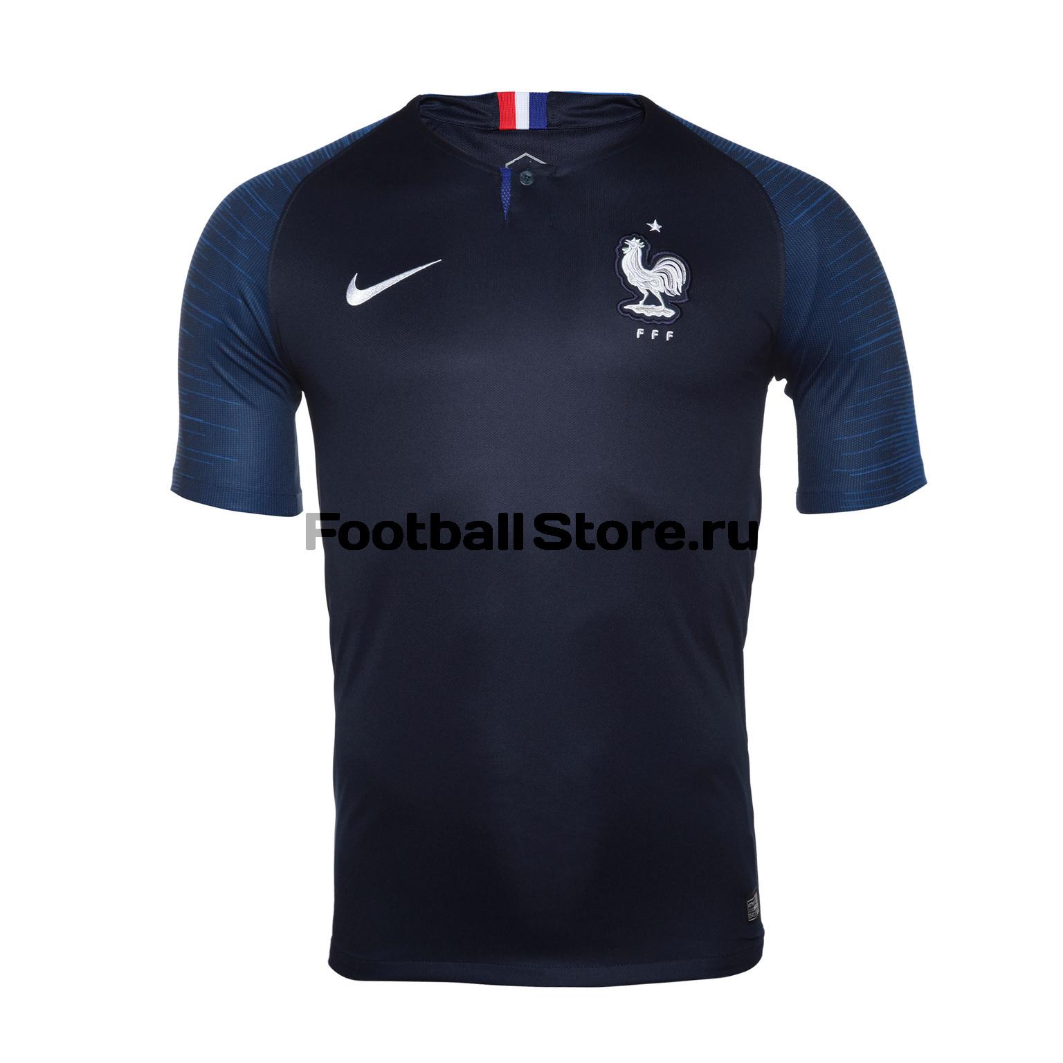 Футболка игровая Nike сборной Франции домашняя 893872-451 футболка игровая домашняя nike barcelona 2018 19