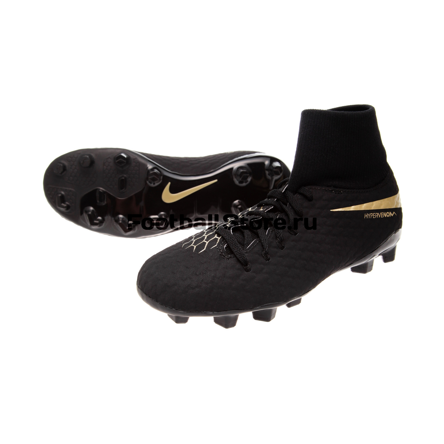 Бутсы Nike Hypervenom 3 Academy DF JR FG AH7287-090 бутсы nike superfly academy gs cr7 jr fg mg aj3111 390