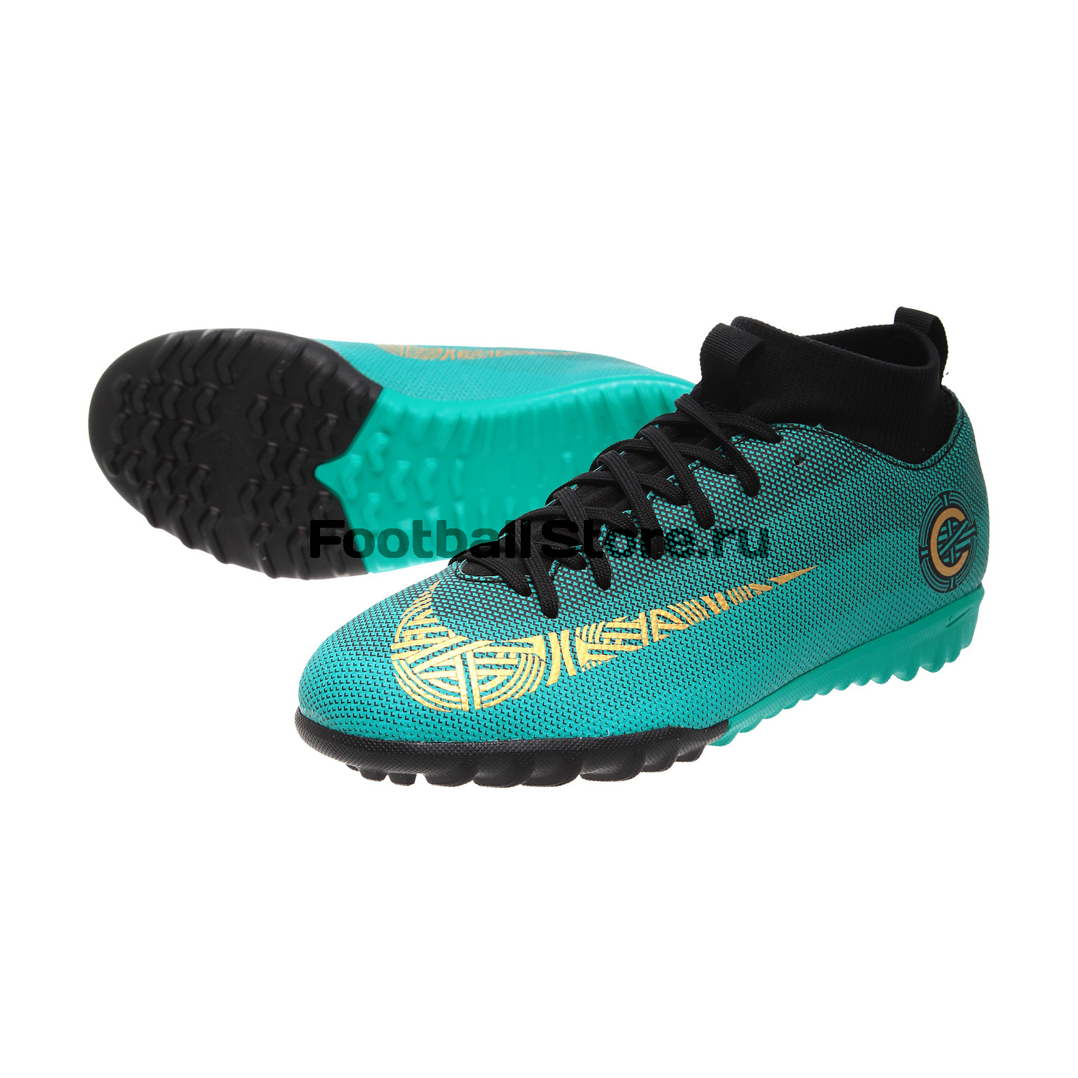 Шиповки Nike Superfly 6 Academy CR7 JR TF AJ3112-390 бутсы nike superfly academy gs cr7 jr fg mg aj3111 390