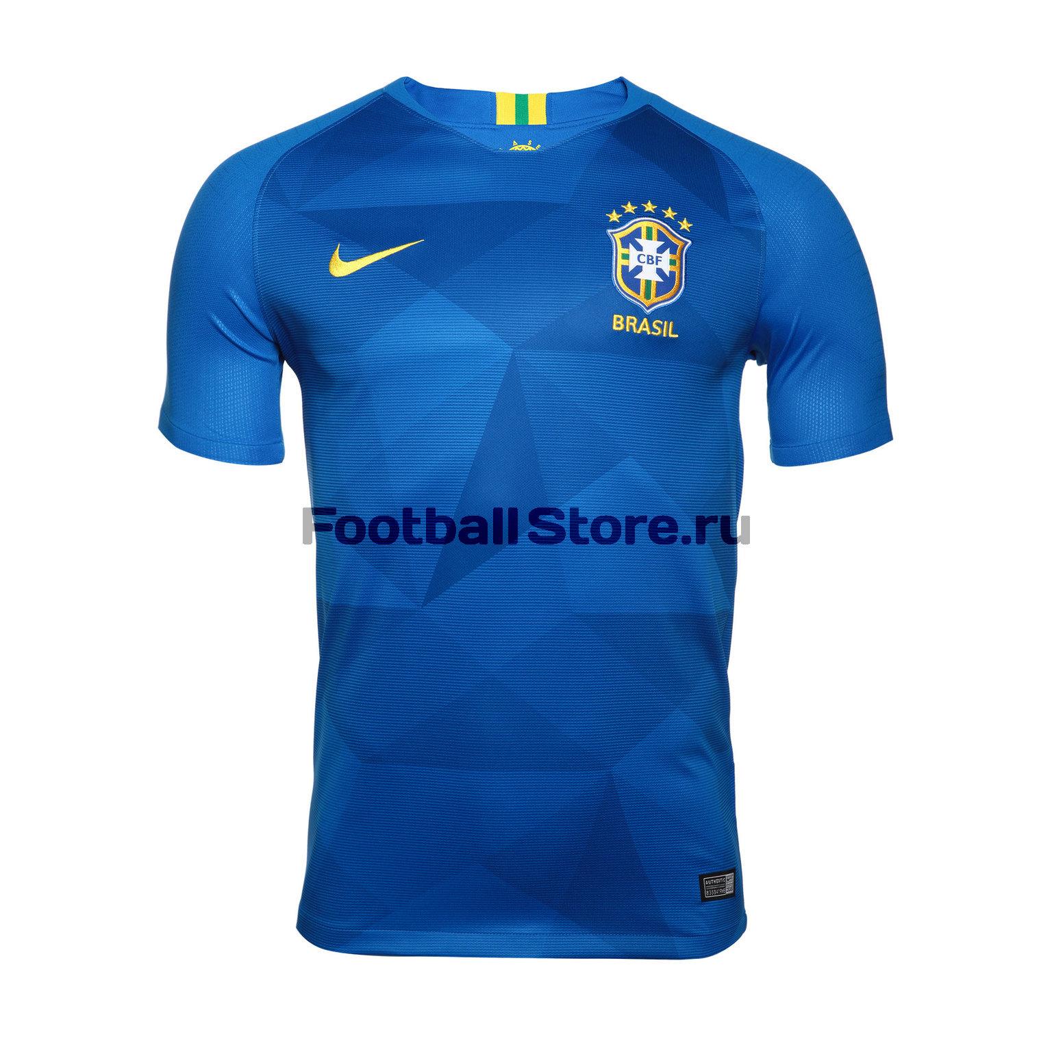 Футболка выездная Nike сборной Бразилии 893855-453 брюки тренировочные nike сборной бразилии 893122 454