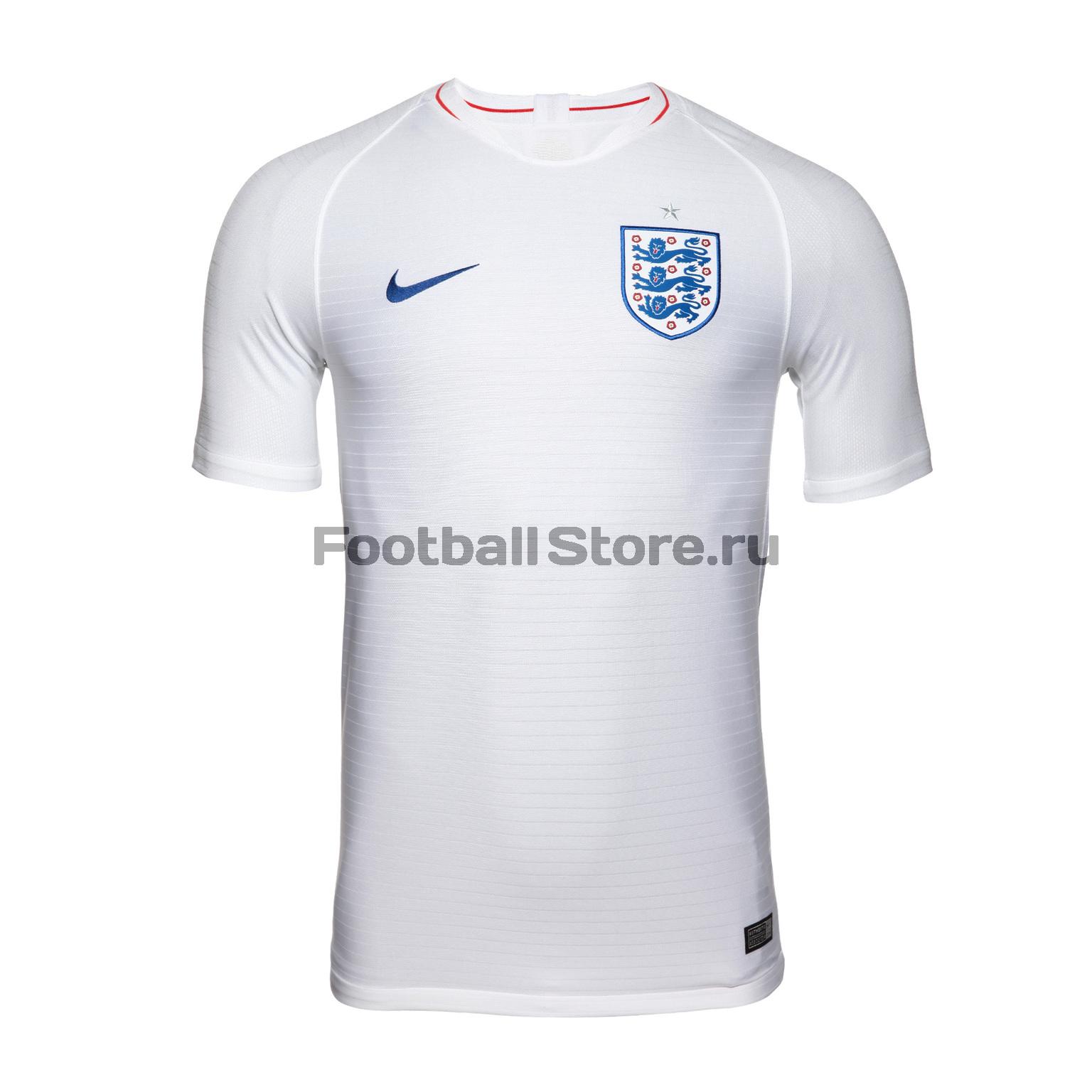 Футболка игровая домашняя Nike сборной Англии 893868-100 футболки nike футболка игровая nike trophy iii 881483 410