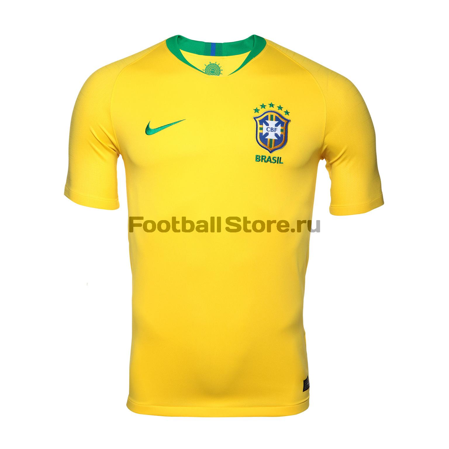 Футболка домашняя Nike сборной Бразилии 893856-749 оригинальная домашняя футболка nike дзюба 22 2018 19 nike
