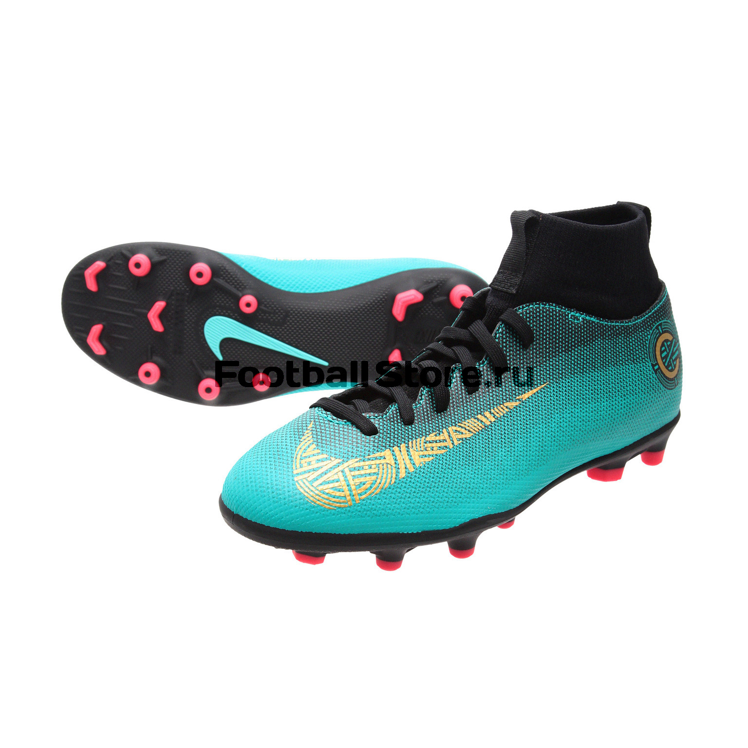 Бутсы Nike JR Superfly 6 Club CR7 FG/MG AJ3115-390 бутсы nike superfly academy gs cr7 jr fg mg aj3111 390