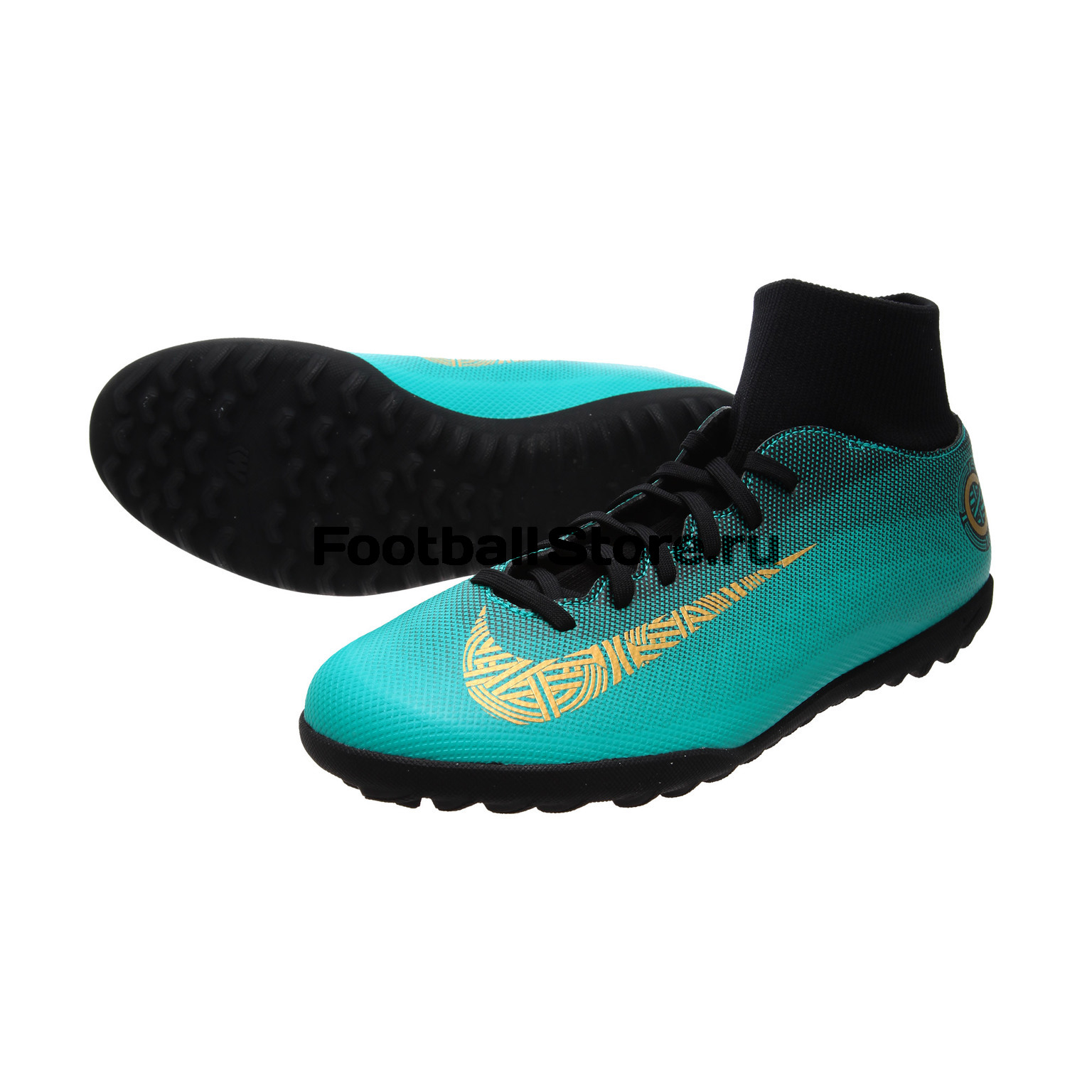 Шиповки Nike Superfly 6 Club CR7 TF AJ3570-390 бутсы nike superfly academy gs cr7 jr fg mg aj3111 390