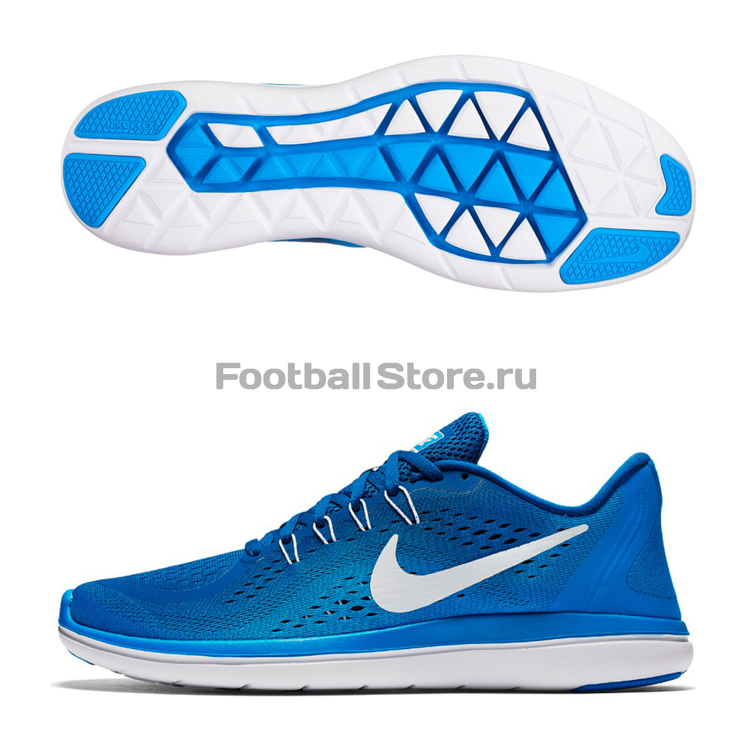 Кроссовки Nike Flex 2017 RN 898457-403 спортинвентарь nike чехол для iphone 6 на руку nike vapor flash arm band 2 0 n rn 50 078 os