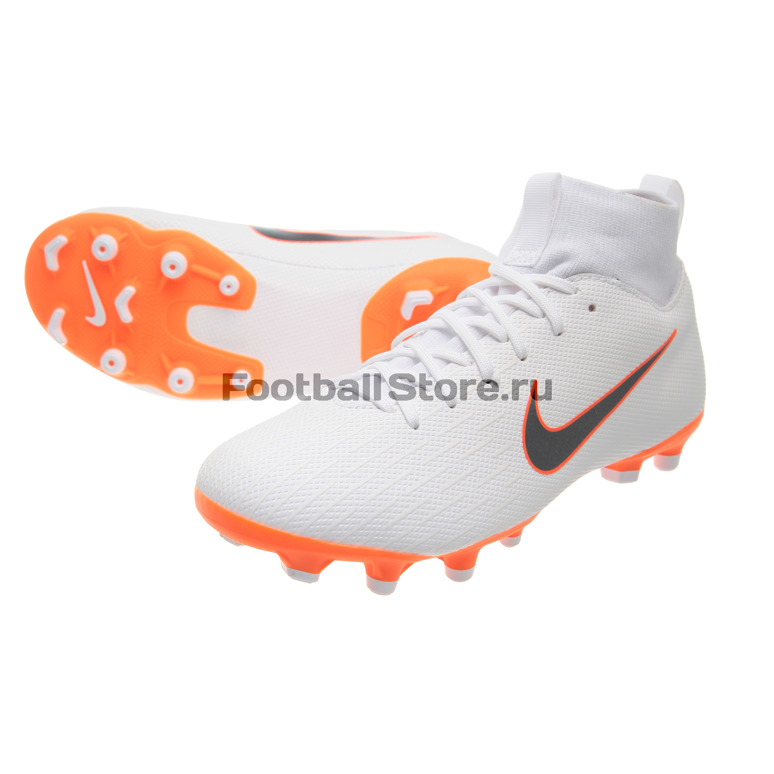 Бутсы детские Nike Superfly 6 Academy GS FG/MG AH7337-107 бутсы детские nike superfly academy gs cr7 fg mg aj3111 600