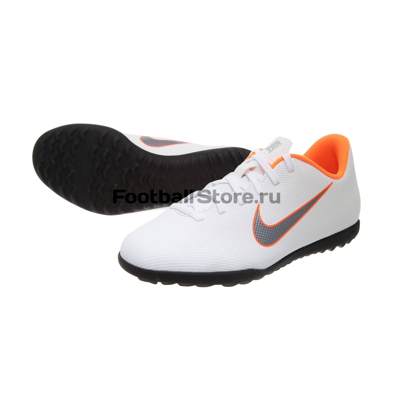 Шиповки детские Nike Vapor 12 Club GS TF AH7355-107 бутсы nike шиповки nike jr tiempox legend vi tf 819191 018