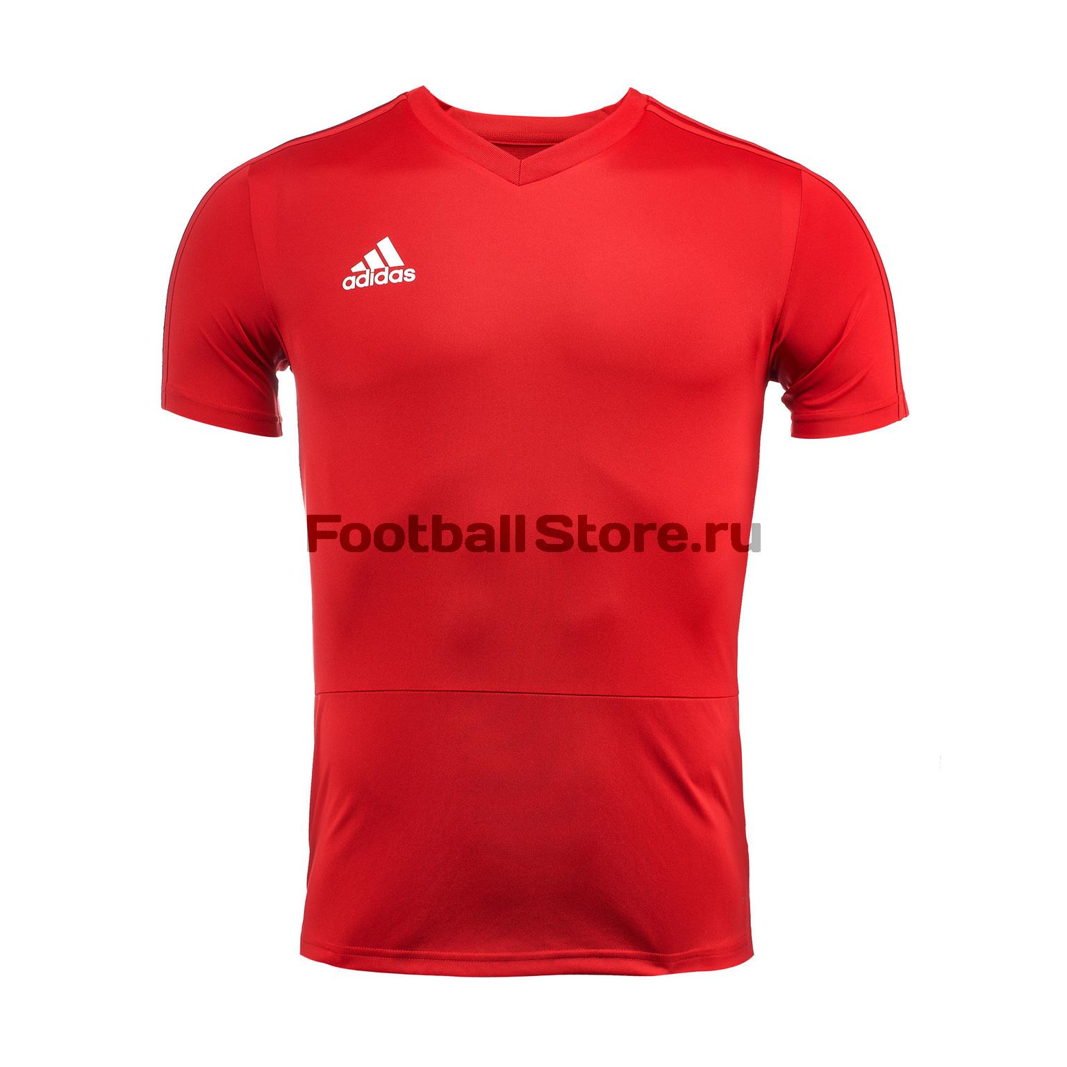 Футболка тренировочная Adidas Con18 TR JSY CG0353 футболка тренировочная adidas tiro19 tr jsy dt5288