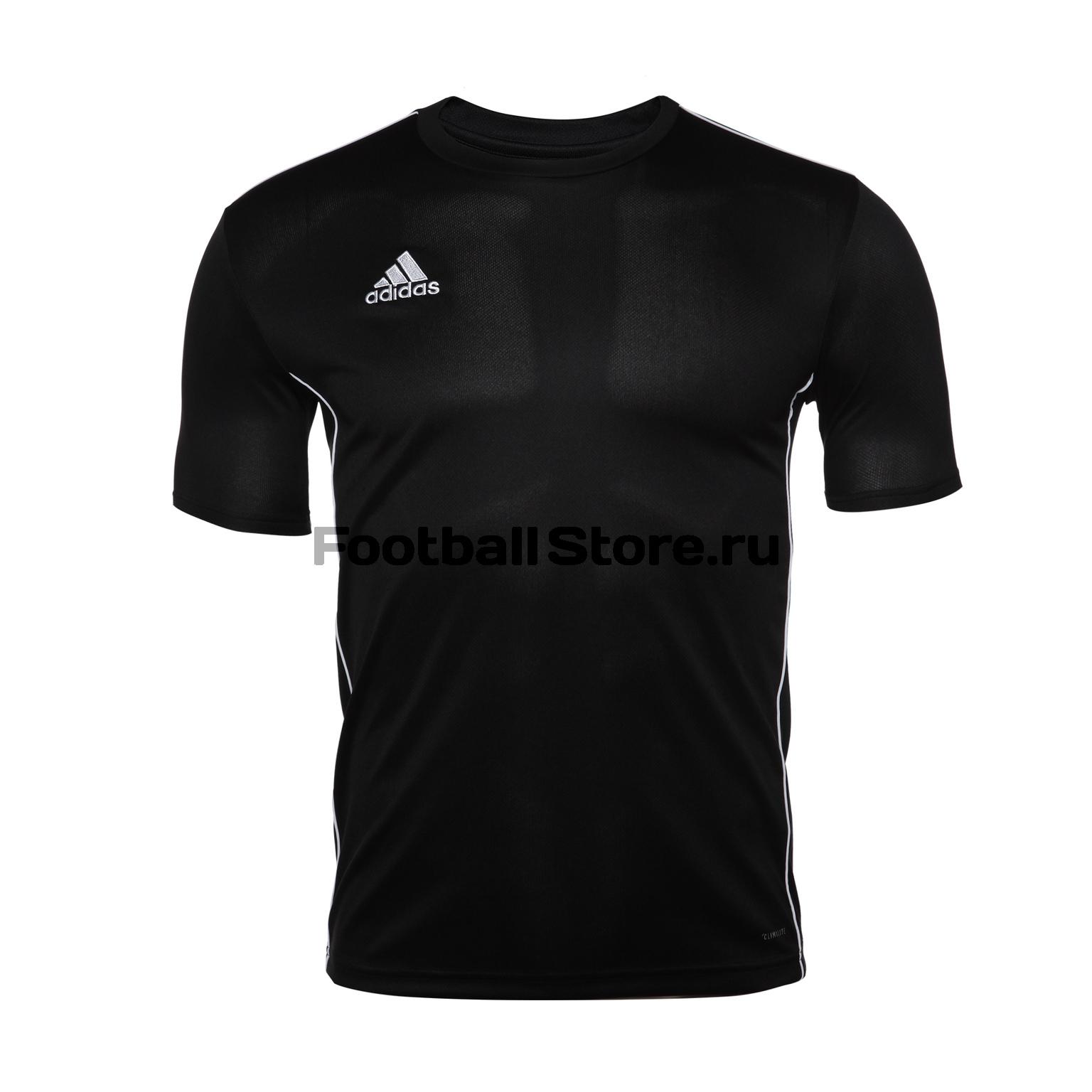 Футболка тренировочная Adidas Core18 JSY CE9021 футболка тренировочная adidas tiro19 tr jsy dt5288
