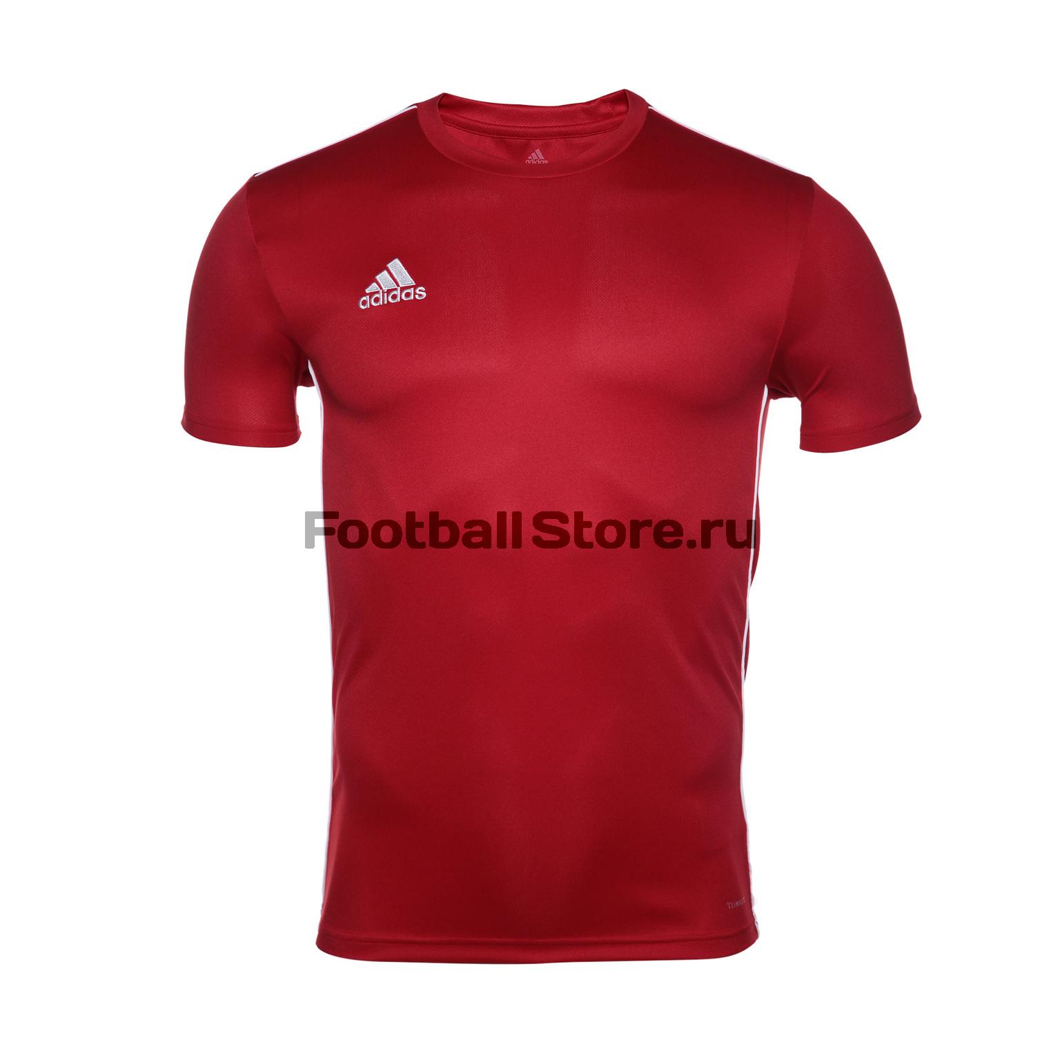 цена Футболка тренировочная Adidas Core18 JSY CV3452 онлайн в 2017 году