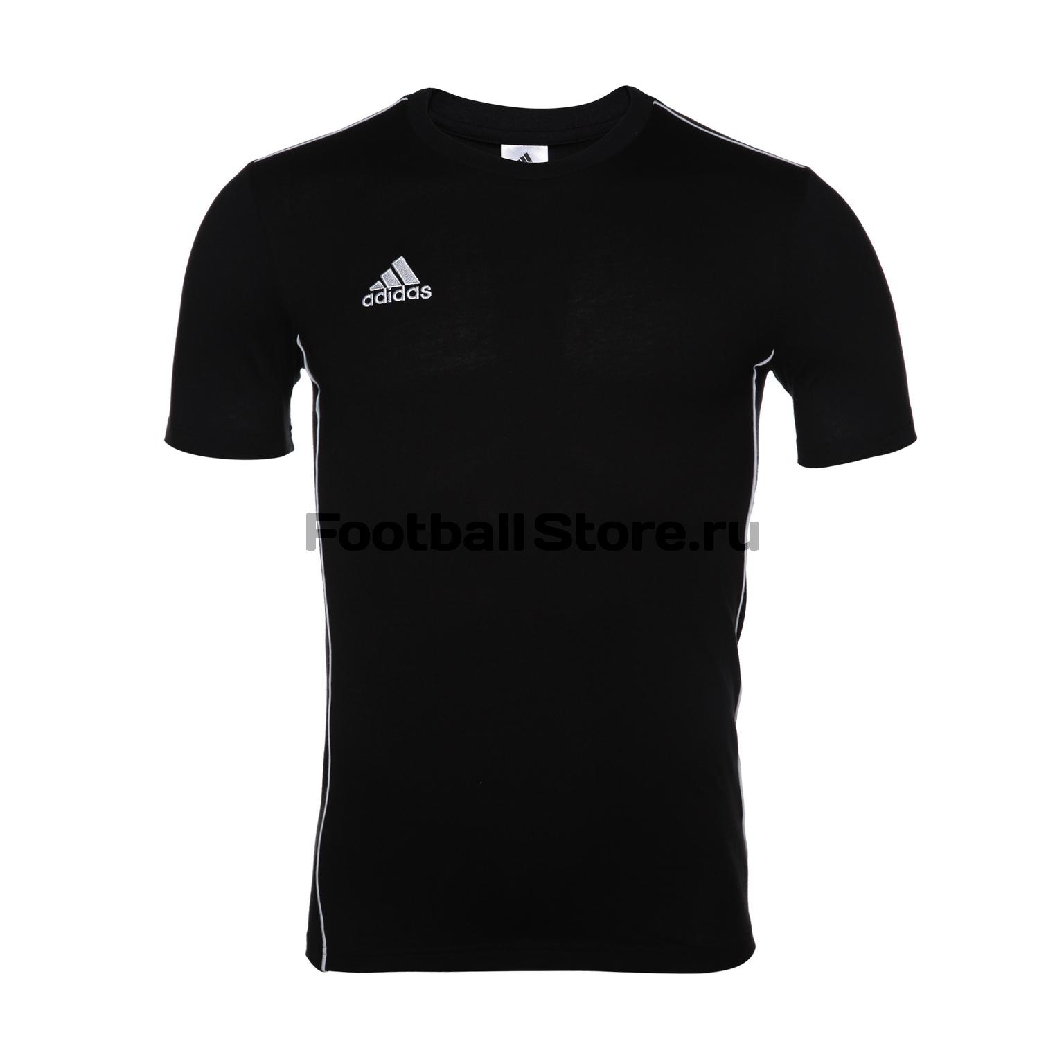 Футболка тренировочная Adidas Core18 Tee CE9063 футболка тренировочная adidas tiro17 tee ay2964