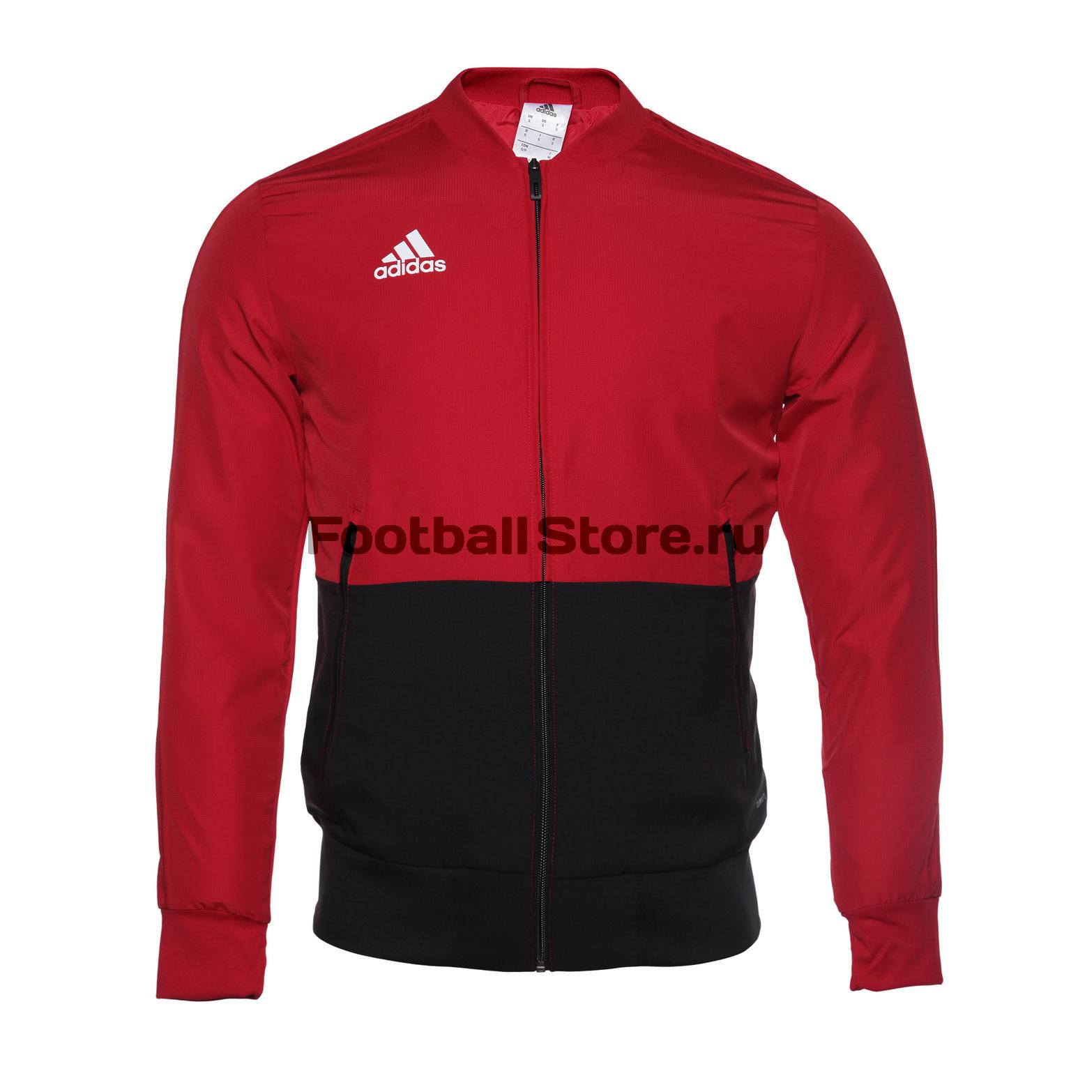 Олимпийка Adidas Con18 Pre Jkt CF4308 ветровка мужская adidas con18 rain jkt цвет черный bq6528 размер l 52 54