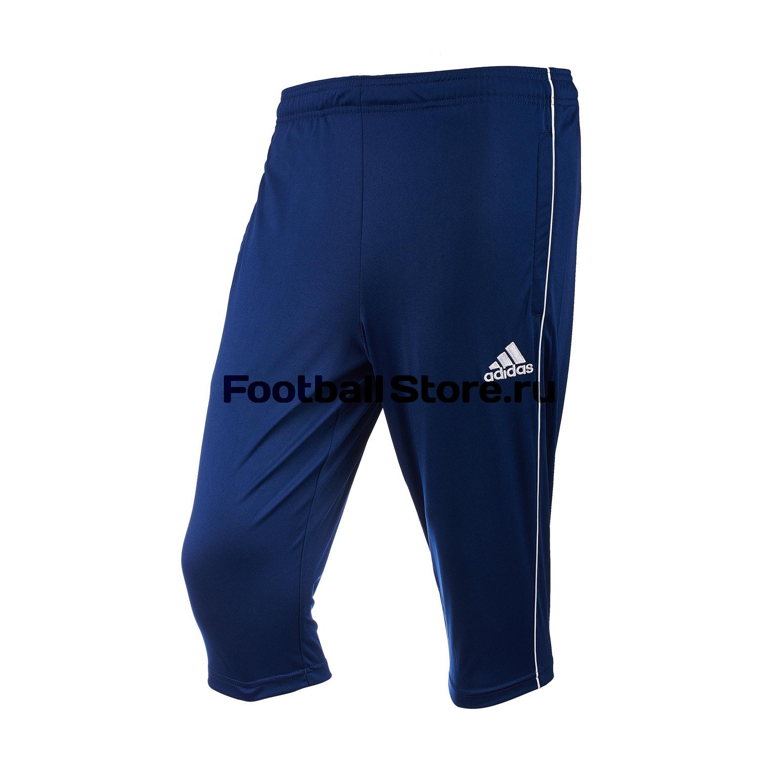 Брюки тренировочные Adidas Core18 3/4 Pnt CV3321 брюки adidas брюки тренировочные adidas tiro17 rn pnt ay2896