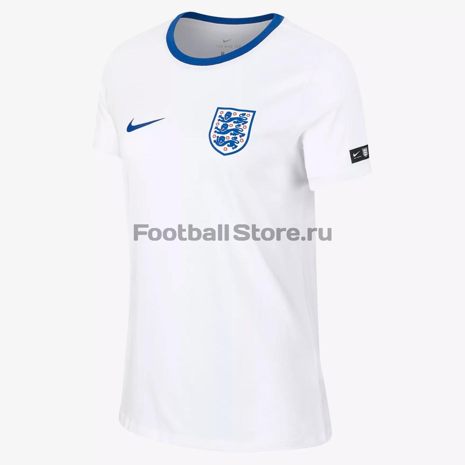 Футболка женская Nike сборной Англии AH9814-100 vivaheart корейский трикотаж женская ткань вязаная футболка с коротким кардиганом sunset vwyc172448 абрикосовая l