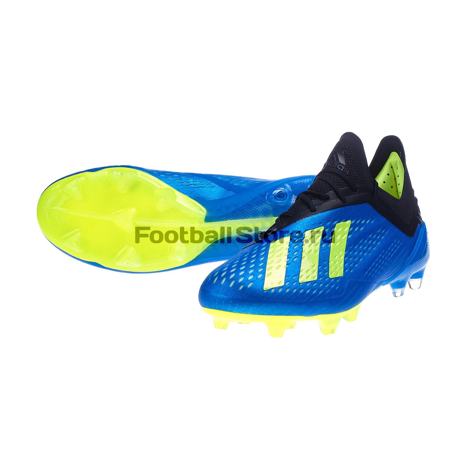 Бутсы Adidas X 18.1 FG CM8365 бутсы adidas x 17 1 fg bb6353