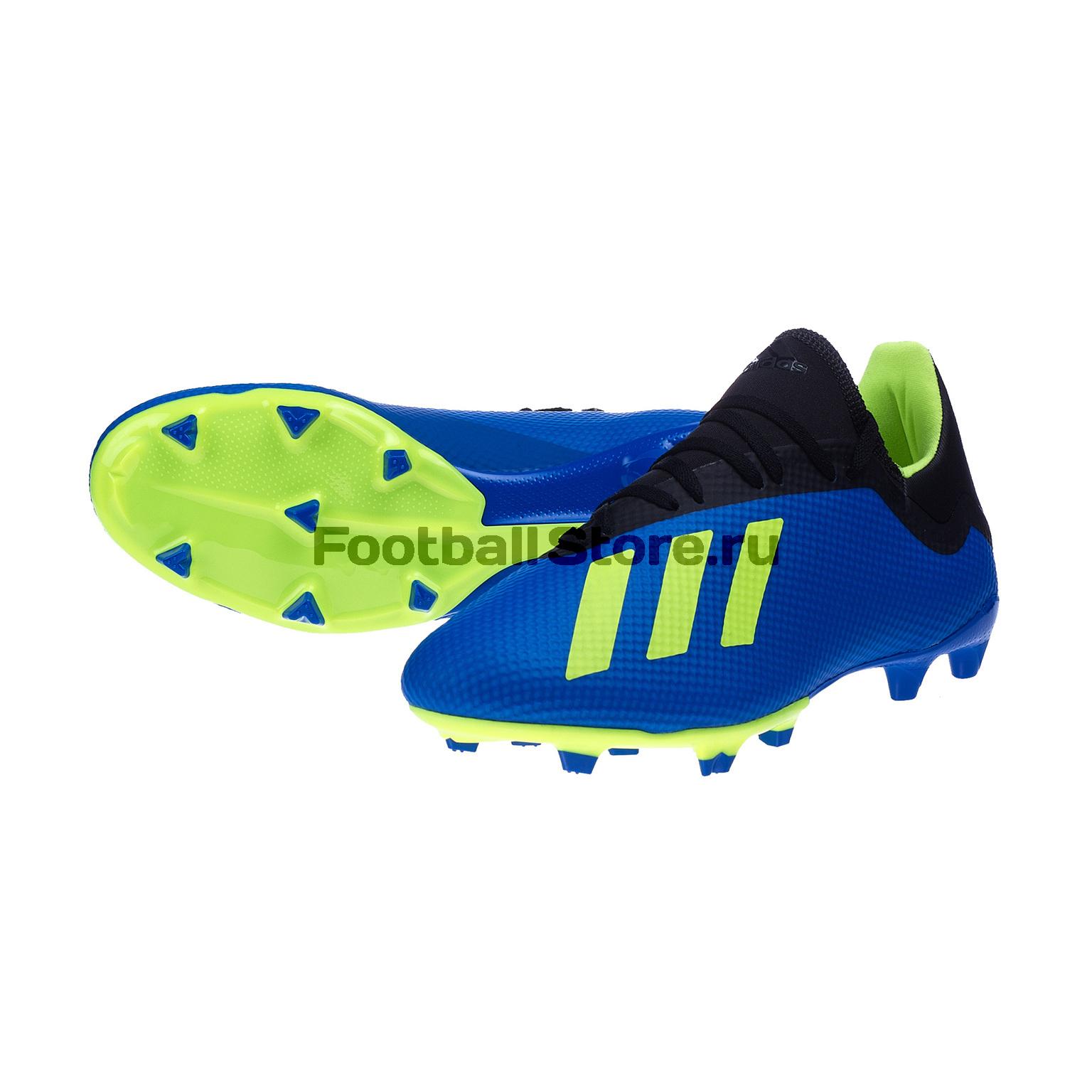 Бутсы Adidas X 18.3 FG DA9335 игровые бутсы adidas бутсы adidas x 16 purechaos fg bb5615