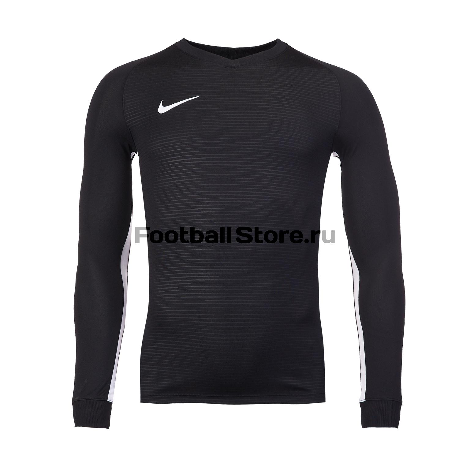 Футболка игровая Nike Dry Tiempo Prem JSY LS 894248-010 футболка игровая nike dry tiempo prem jsy ss 894230 010