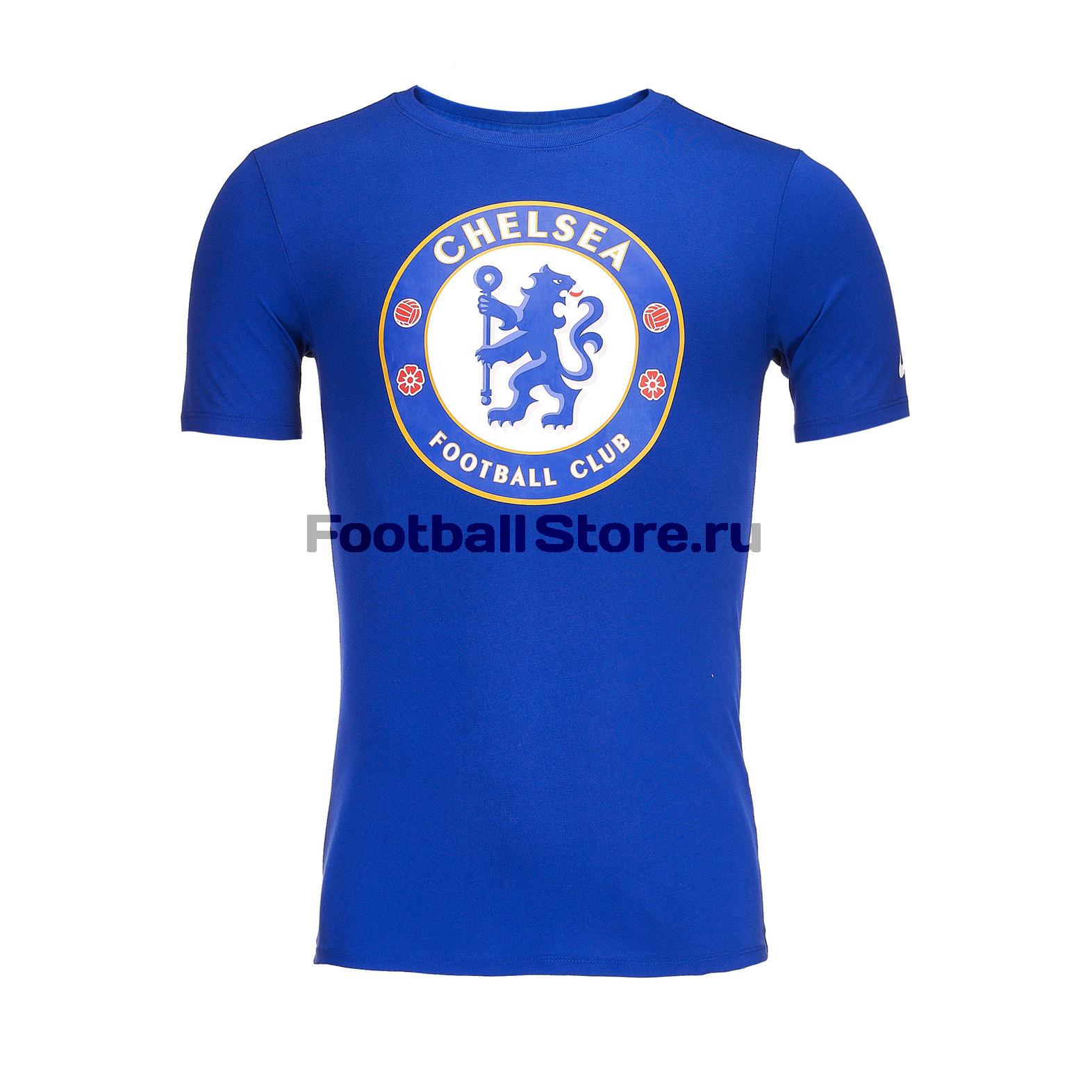 Футболка Nike Chelsea Tee Evergreen Crest 910897-495 футболка nike f c tee foil 810505 101