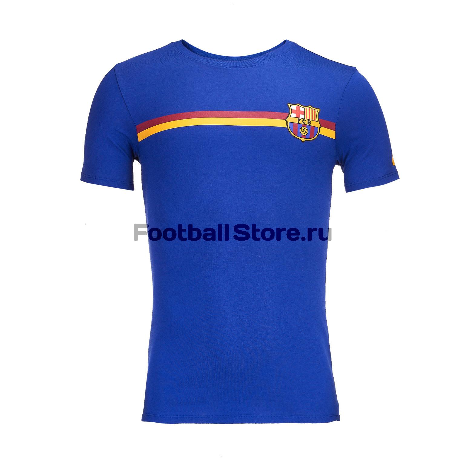 Футболка хлопковая Nike Barcelona 2018/19