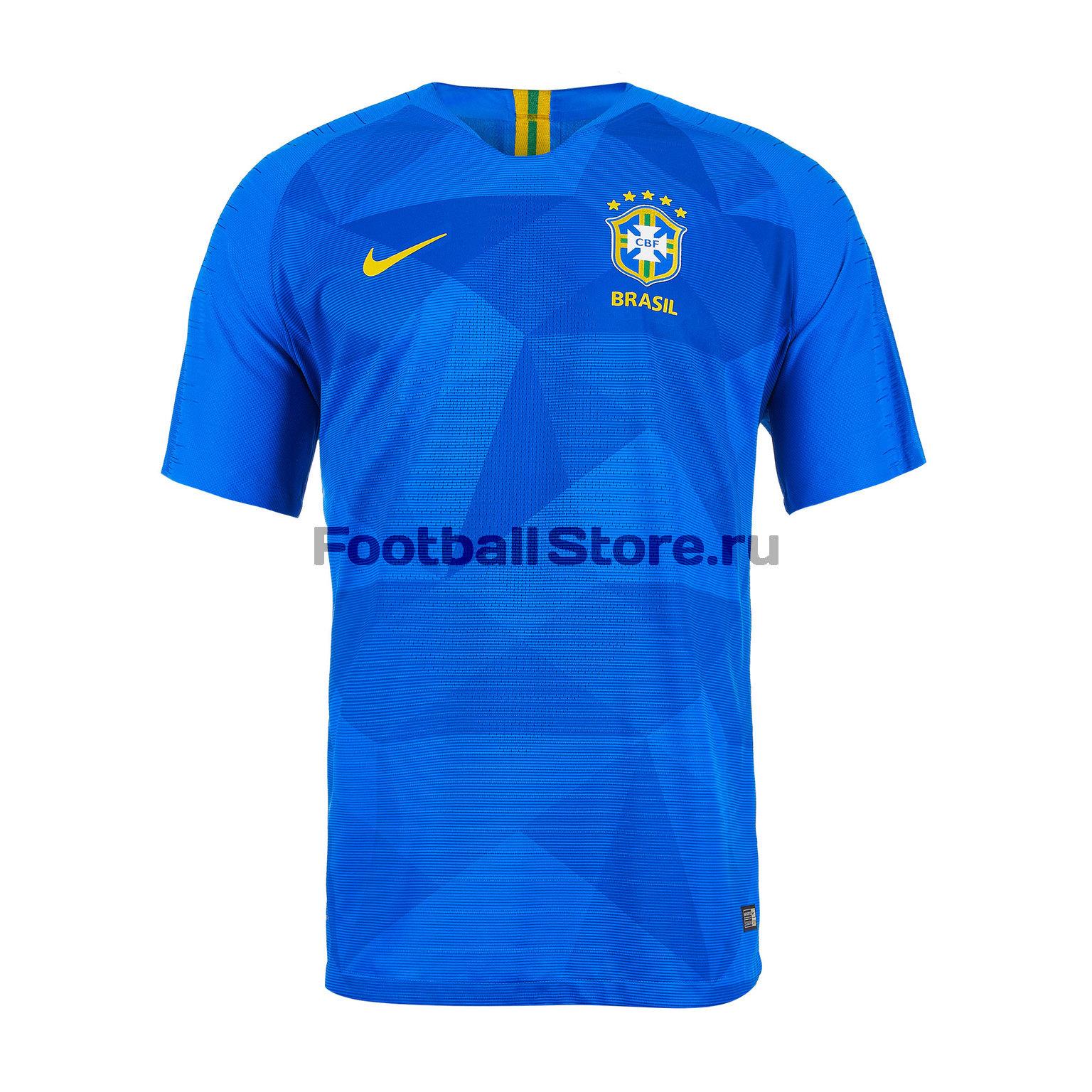 Футболка выездная Nike сборной Бразилии 893857-453 брюки тренировочные nike сборной бразилии 893122 454