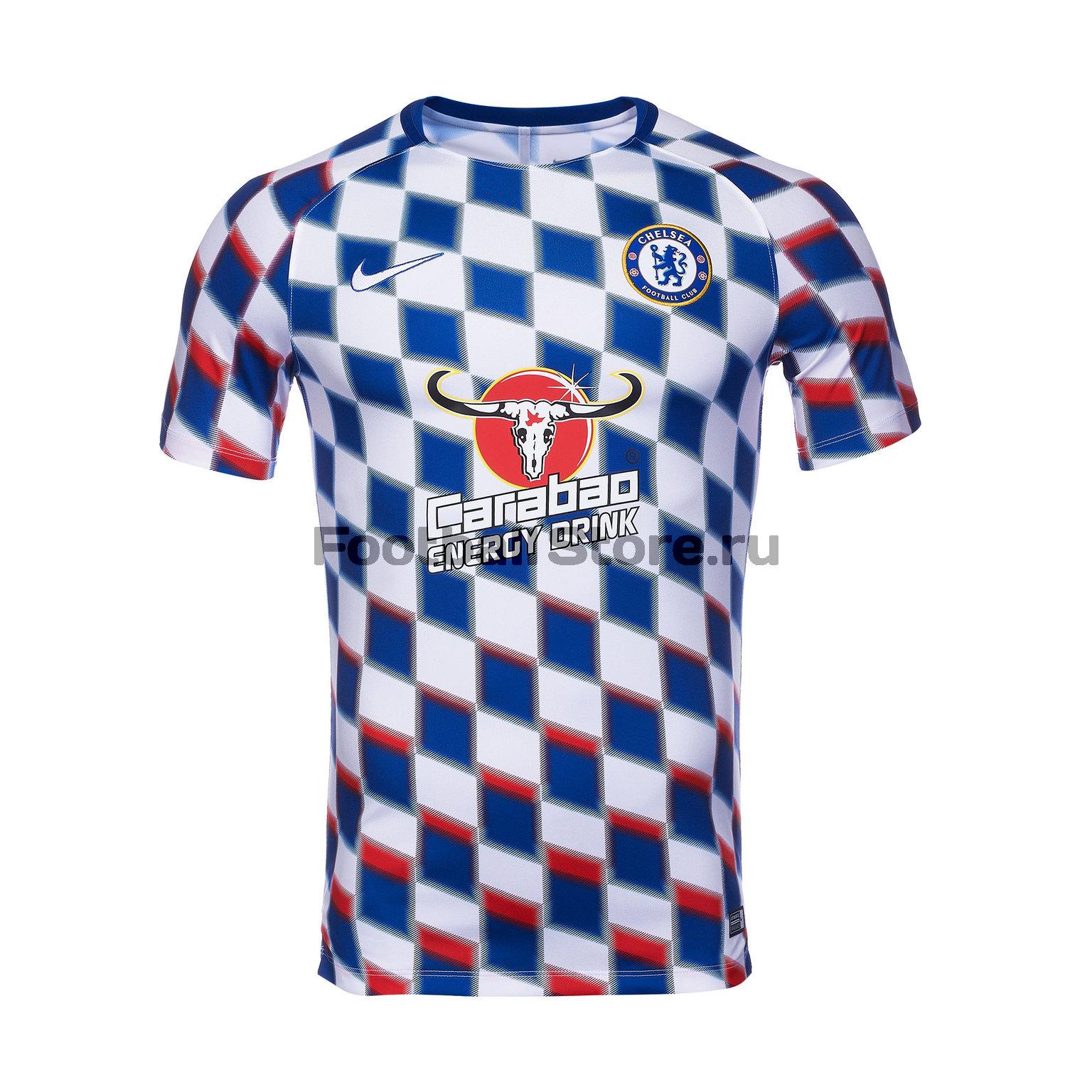 Футболка тренировочная Nike Chelsea Dry Sqd Top SS GX2 919937-101 футболки nike футболка тренировочная nike cr7 dry sqd top 845557 457