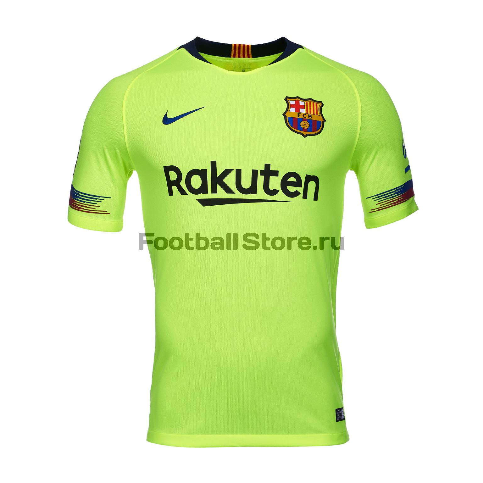 Футболка выездная игровая Nike Barcelona 2018/19 футболка игровая домашняя nike barcelona 2018 19