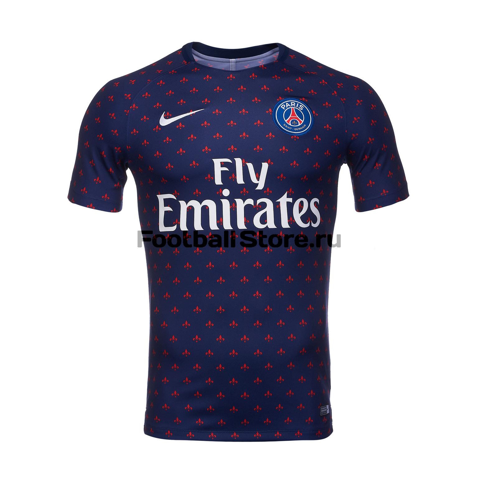 Футболка тренировочная Nike PSG Dry Sqd Top SS GX2 894327-411 футболки nike футболка тренировочная nike cr7 dry sqd top 845557 457