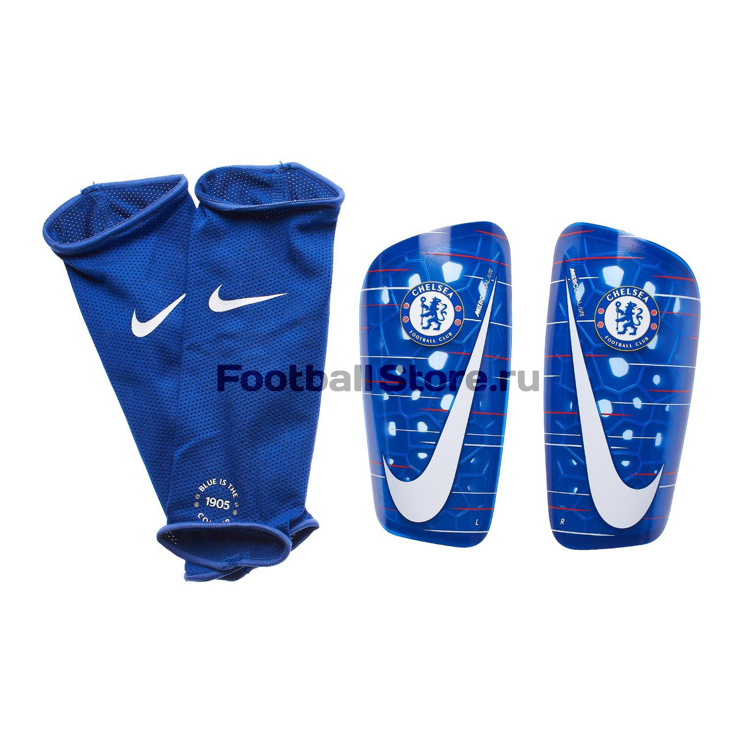 Щитки Nike Chelsea Mercurial Lite GRD SP2135-495 original new arrival nike mercurial victory v tf men s light comfortable soccer shoes football sneakers