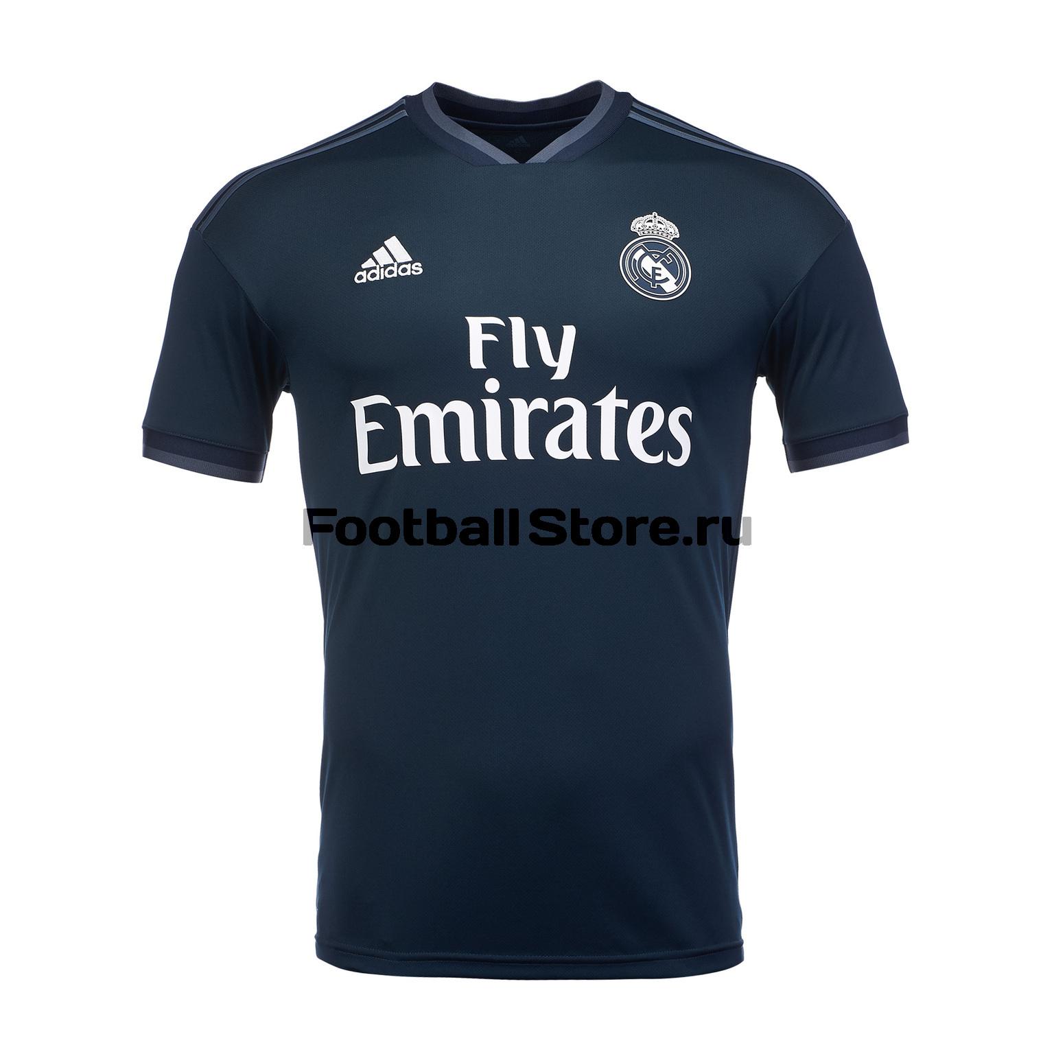 Футболка выездная игровая Adidas Real Madrid 2018/19 игровая выездная футболка цвет белый размер l