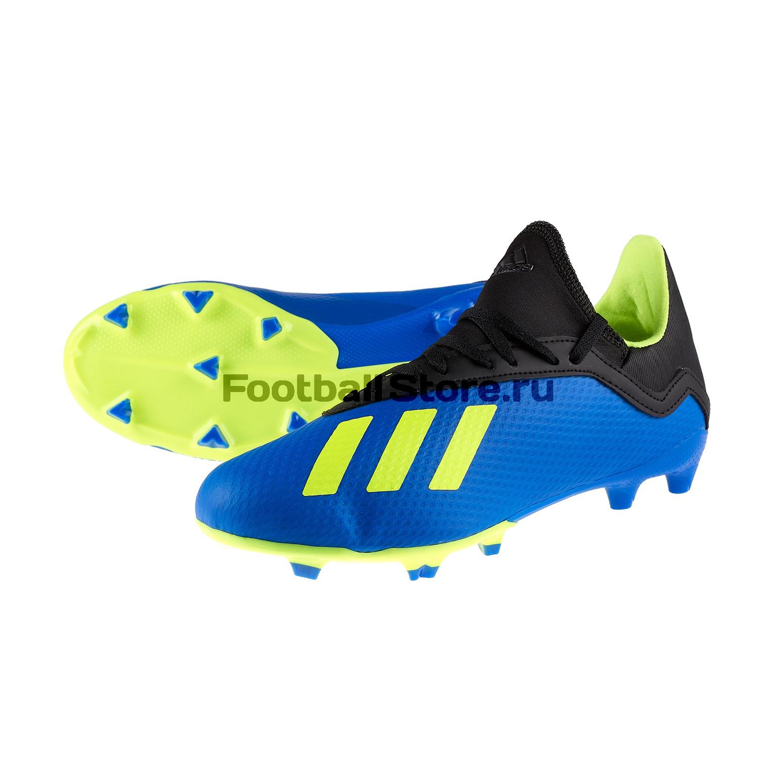 Бутсы детские Adidas X 18.3 FG DB2416 бутсы adidas x 17 1 fg bb6353