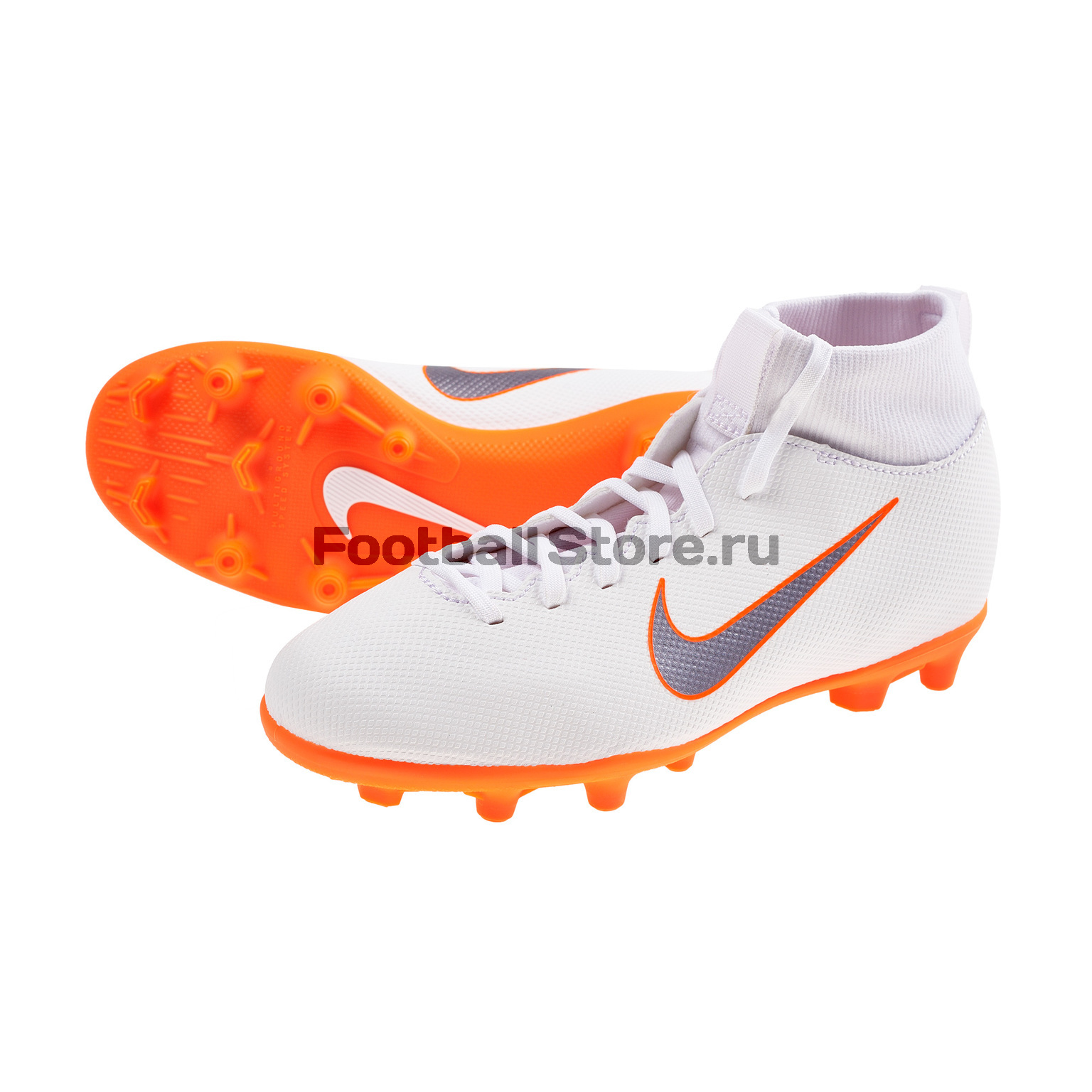 Бутсы детские Nike Superfly 6 Club FG/MG AH7339-107 бутсы nike superfly 6 elite sg pro ac ah7366 060