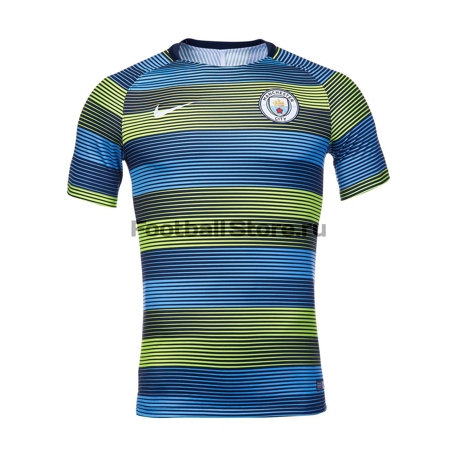 Футболка тренировочная Nike Manchester City 2018/19 футболка тренировочная подростковая nike размер xs