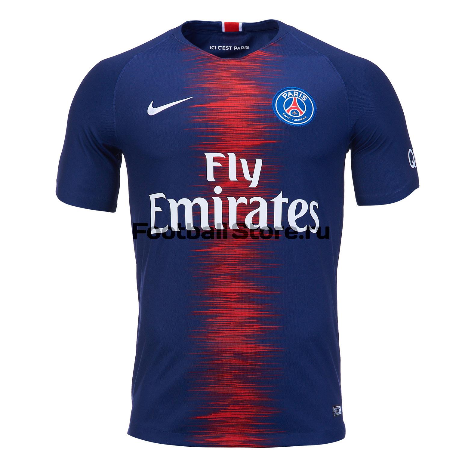 Футболка игровая домашняя Nike ПСЖ 2018/19 футболка неймара в псж