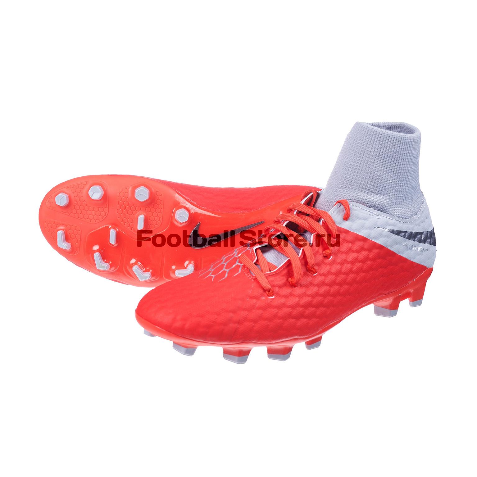 Бутсы Nike Hypervenom 3 Academy DF FG AQ9217-600 бутсы nike phantom 3 academy df fg ah7268 081