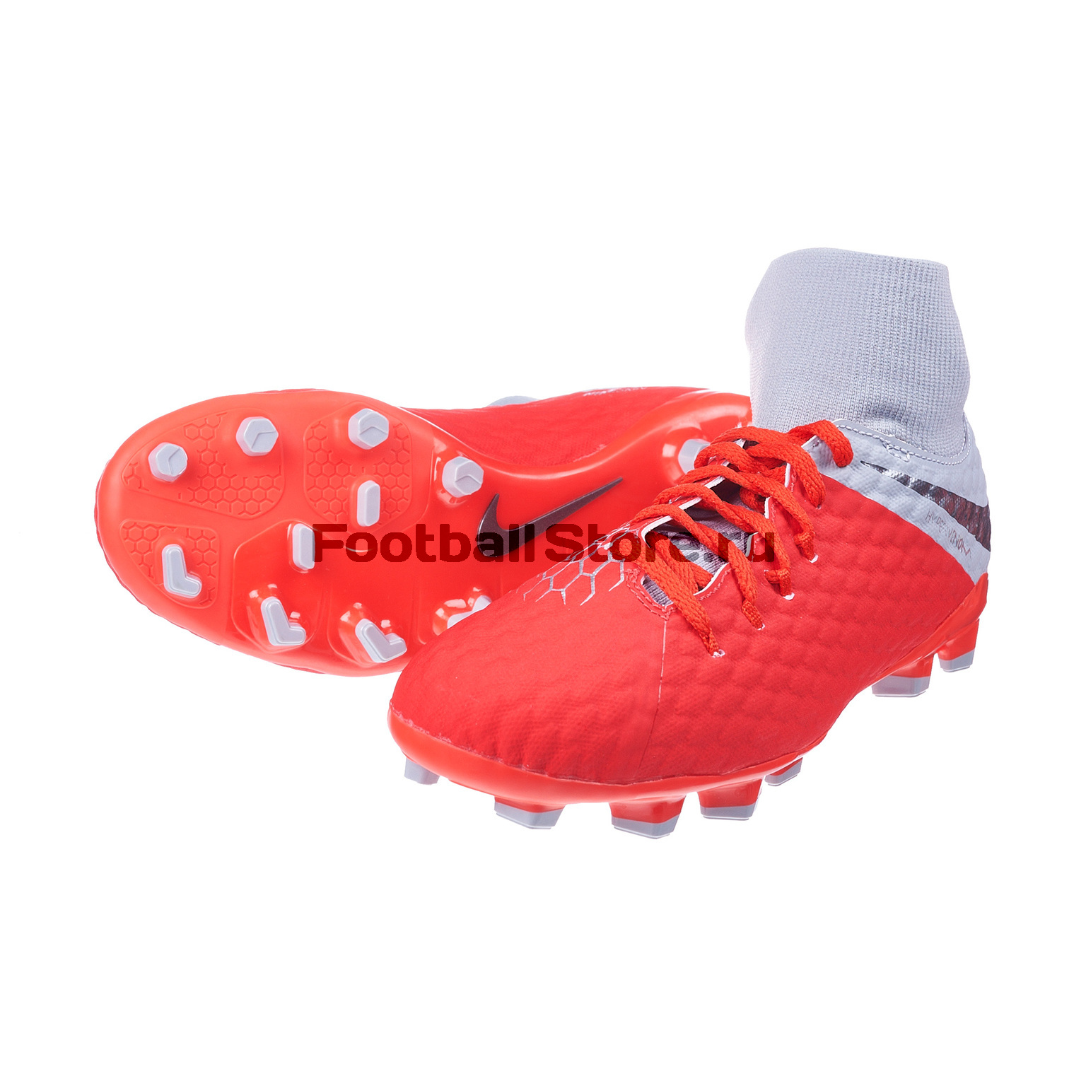 Бутсы детские Nike Hypervenom 3 Academy DF FG AH7287-600 бутсы nike phantom 3 academy df fg ah7268 081