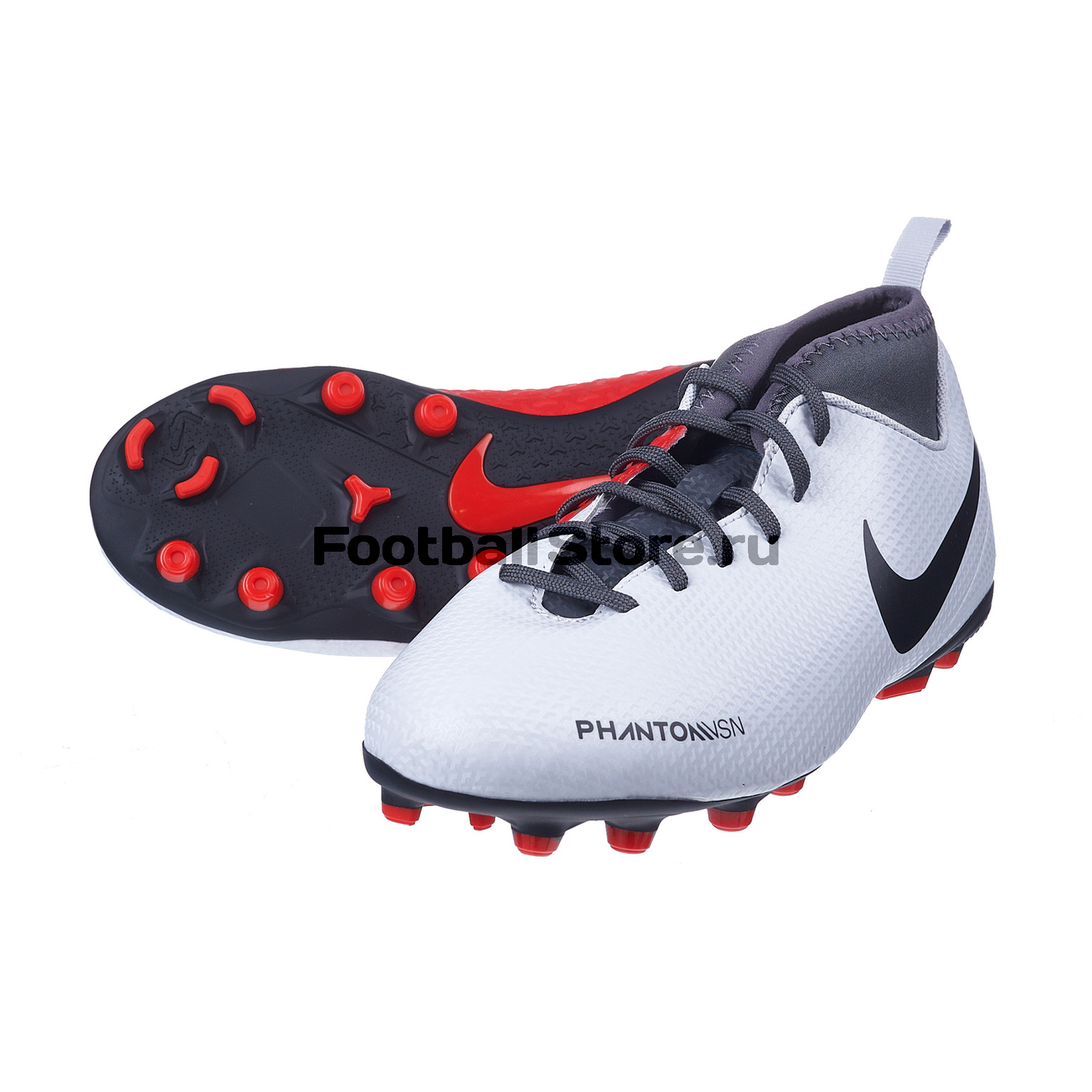 Бутсы детские Nike Phantom Vision Club FG/MG AO3288-060 бутсы детские nike phantom vision academy df fg mg ao3287 600