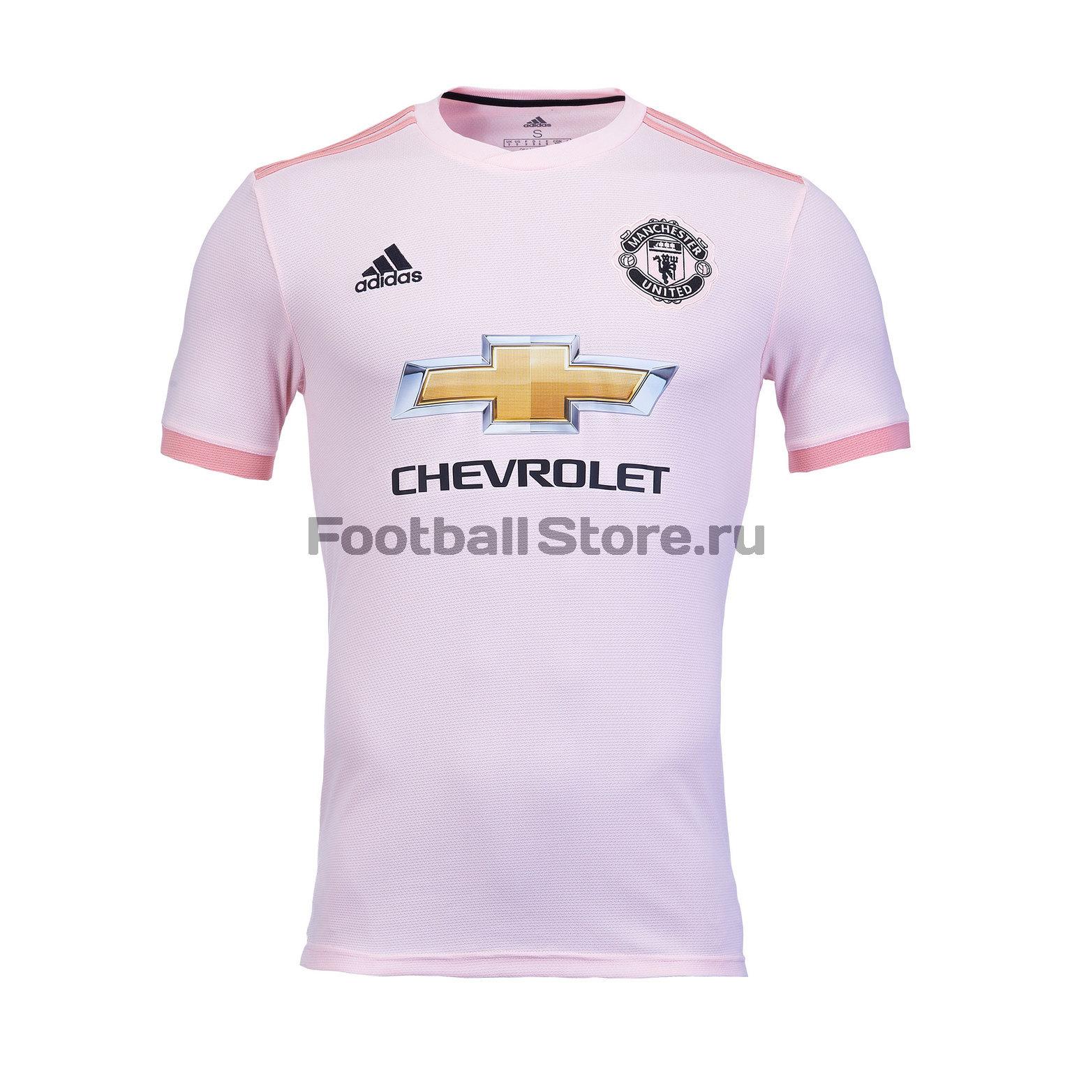 Футболка игровая выездная Adidas Manchester United 2018/19 гостевая книга xbase