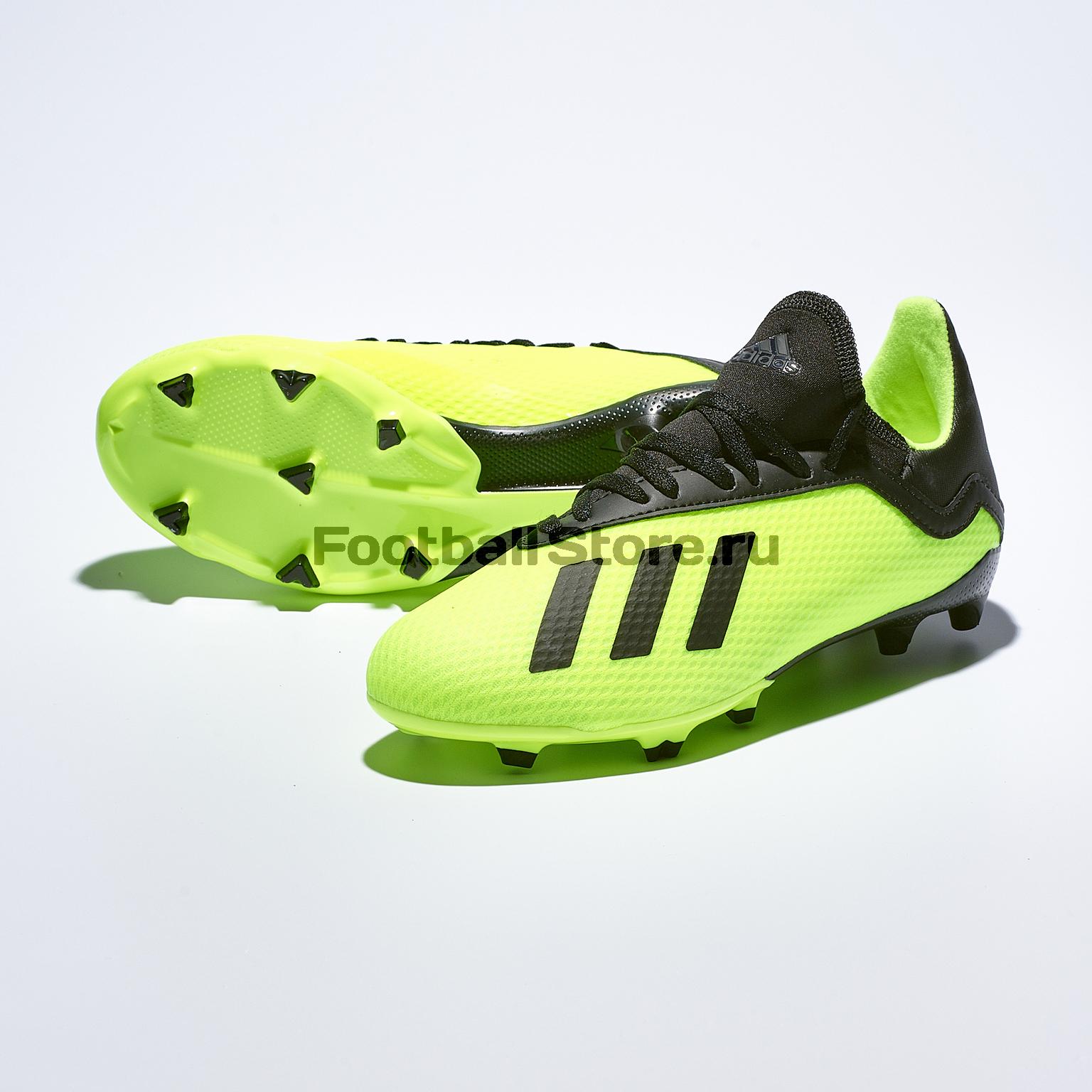 Бутсы детские Adidas X 18.3 FG DB2418 игровые бутсы adidas бутсы adidas x 16 purechaos fg bb5615