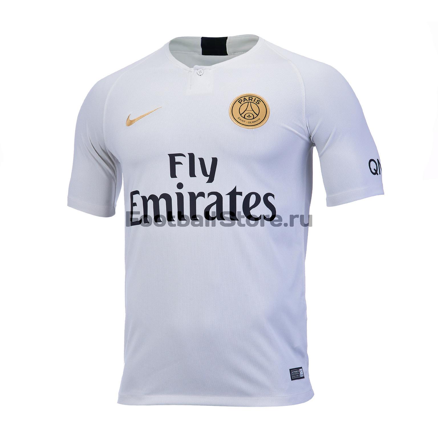 Футболка игровая выездная Nike PSG (ПСЖ) 2018/19 игровая выездная футболка цвет белый размер l