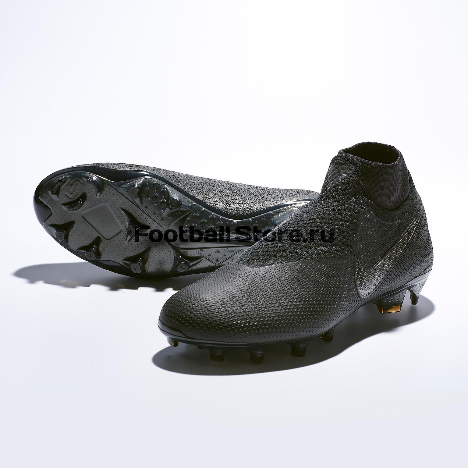 Бутсы Nike Phantom Vision Elite DF FG AO3262-001 бутсы детские nike phantom vision elite df fg mg ao3289 600