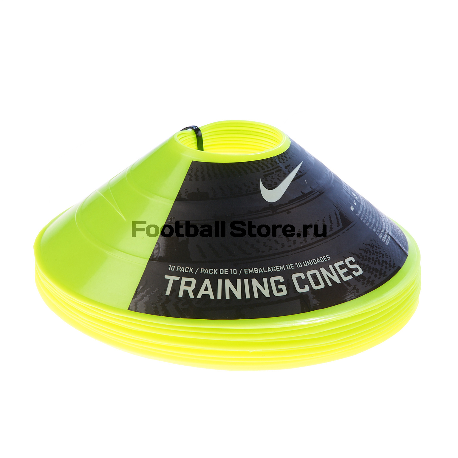 Набор конусов для тренировок Nike 10 Pack Training Cones N.SR.08.709.NS cкакалка nike weighted rope 2 0 ns grey black bright citrus