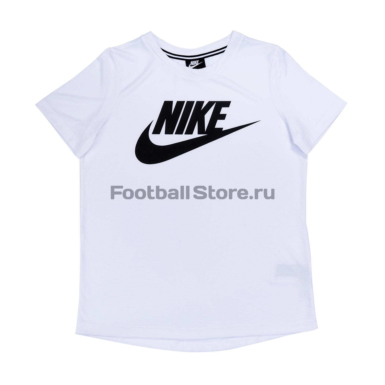 Футболка женская Nike ESSNTL Top 829747-100 футболка женская nike pro top цвет белый 889540 100 размер s 42 44